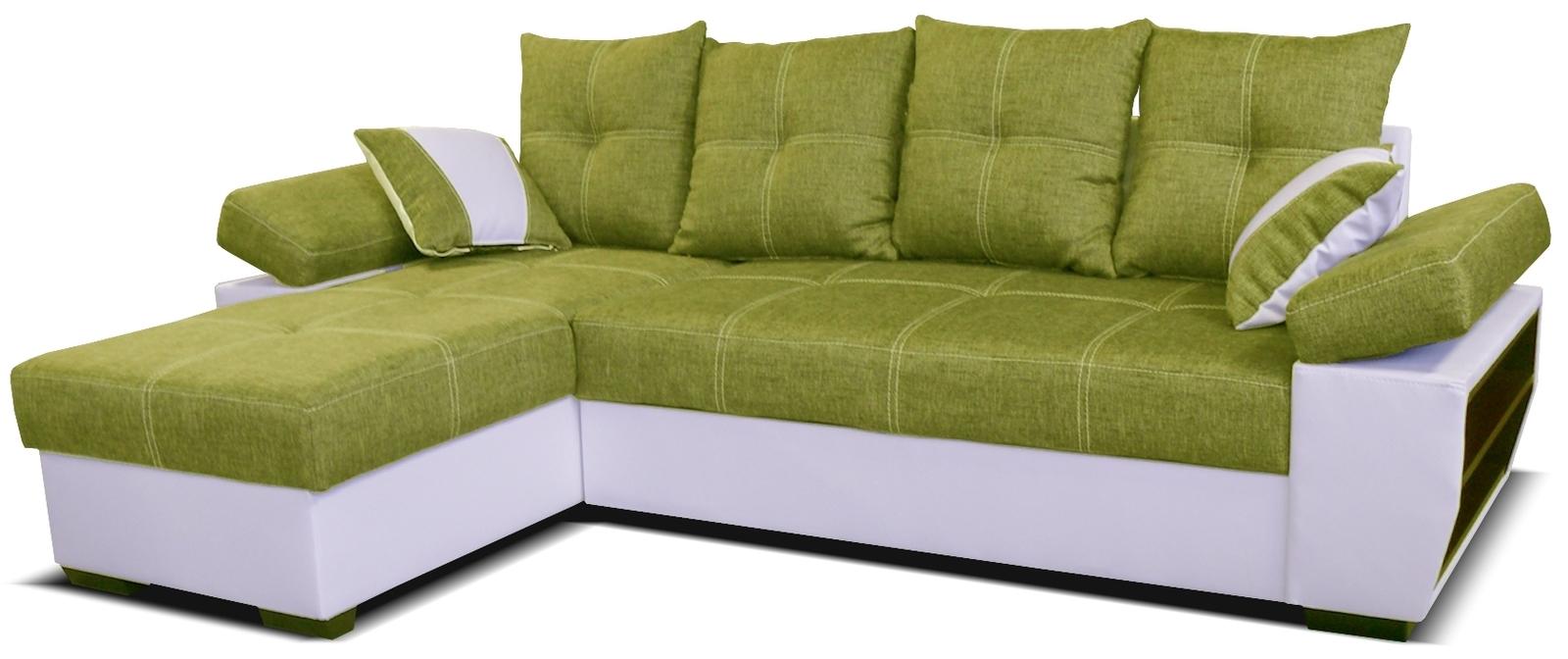 Rohová sedací souprava - Po-Sed - Viena L+2F (L) bílá + zelená