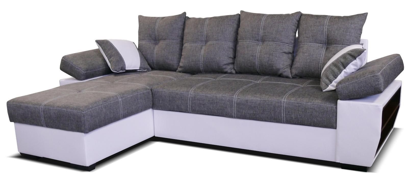 Rohová sedací souprava - Po-Sed - Viena L+2F (L) bílá + šedá