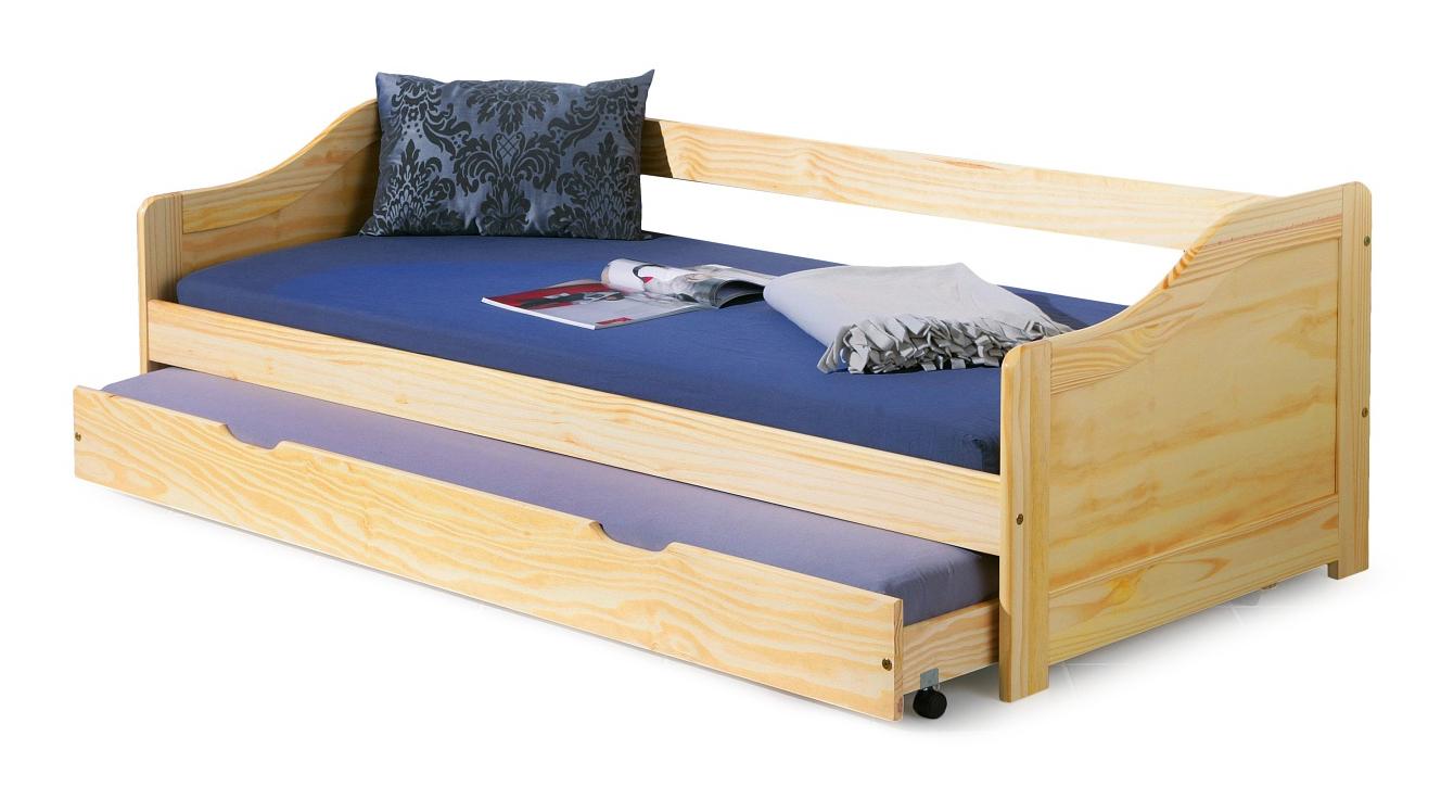 Jednolůžková postel 90 cm - Halmar - Laura (masiv, s roštem)