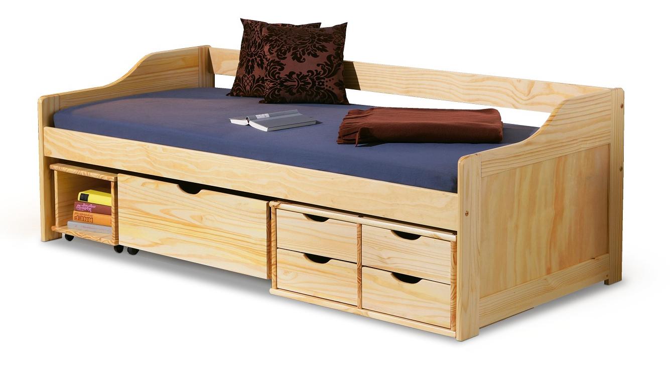 Jednolůžková postel 90 cm - Halmar - Maxima (masiv, s roštem)