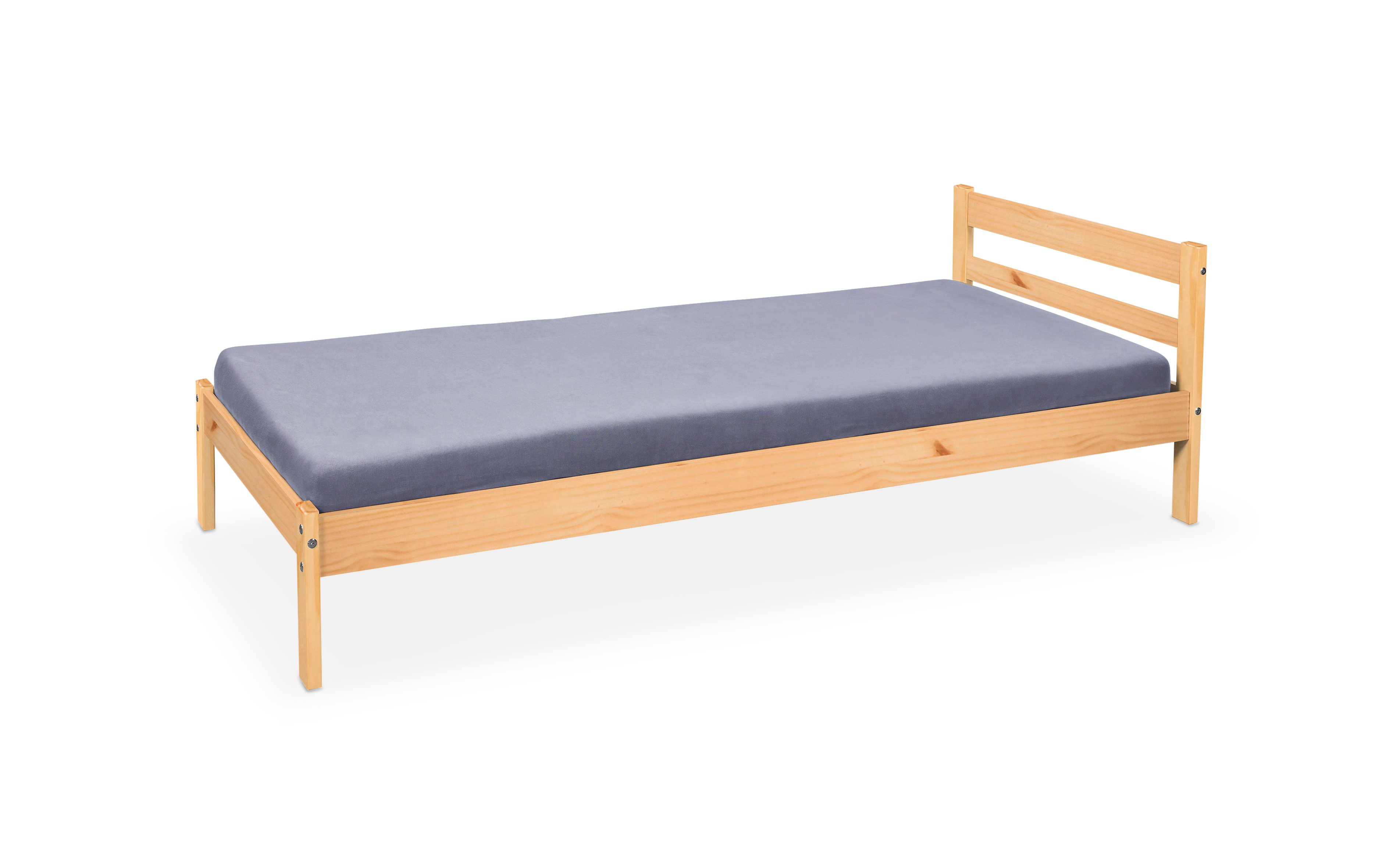 Jednolůžková postel 90 cm - Halmar - Finy (borovice)