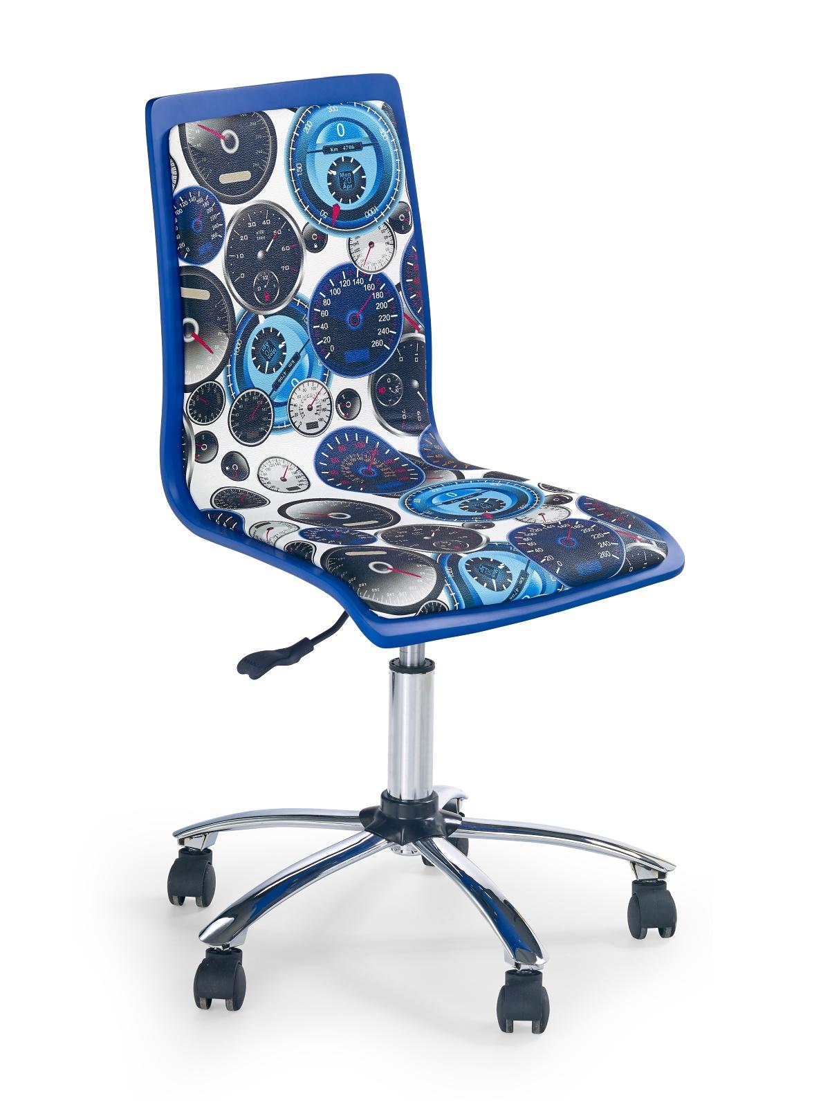 Dětská židle - Halmar - Fun-8 bílá + modrá