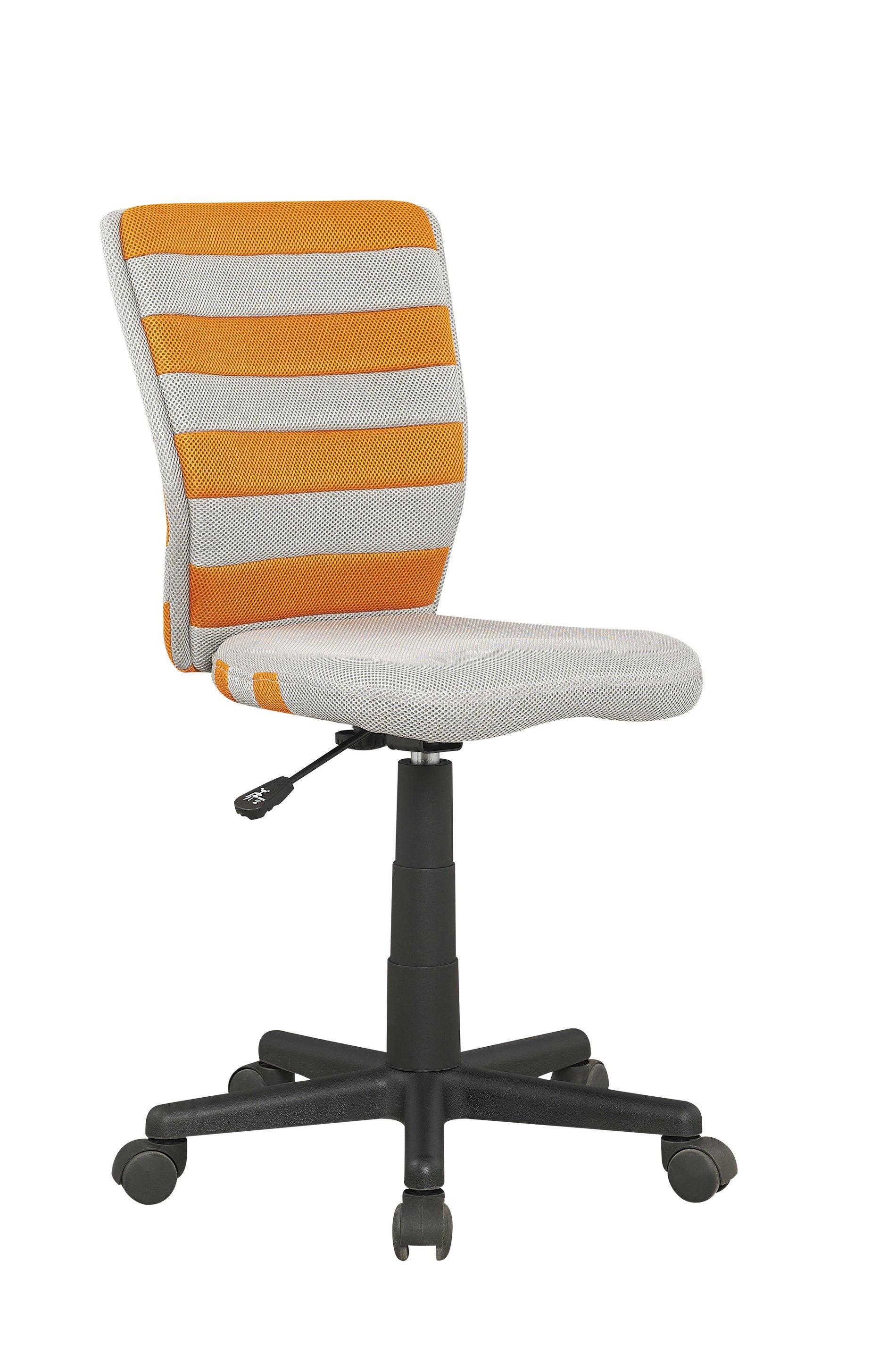 Dětská židle - Halmar - Fuego (šedá + oranžová)