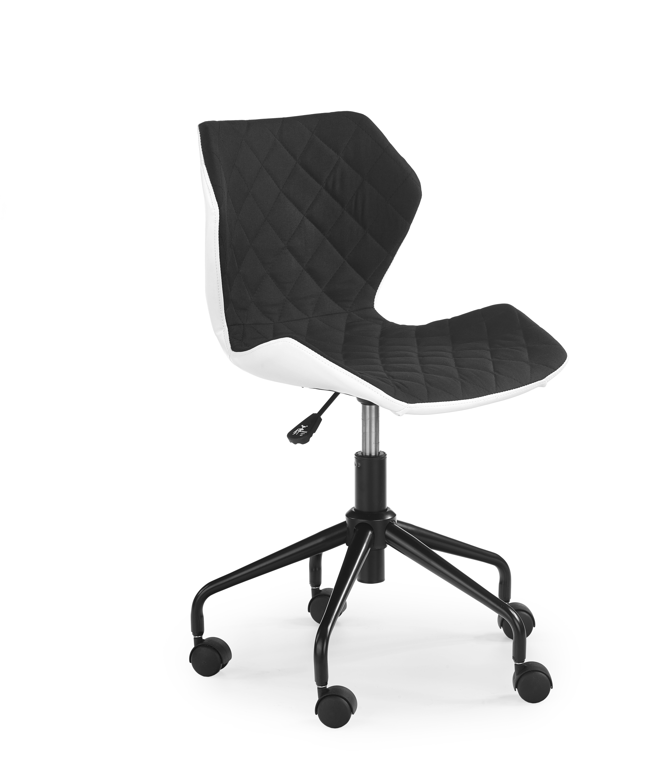 Dětská židle - Halmar - Matrix (černá + bílá)