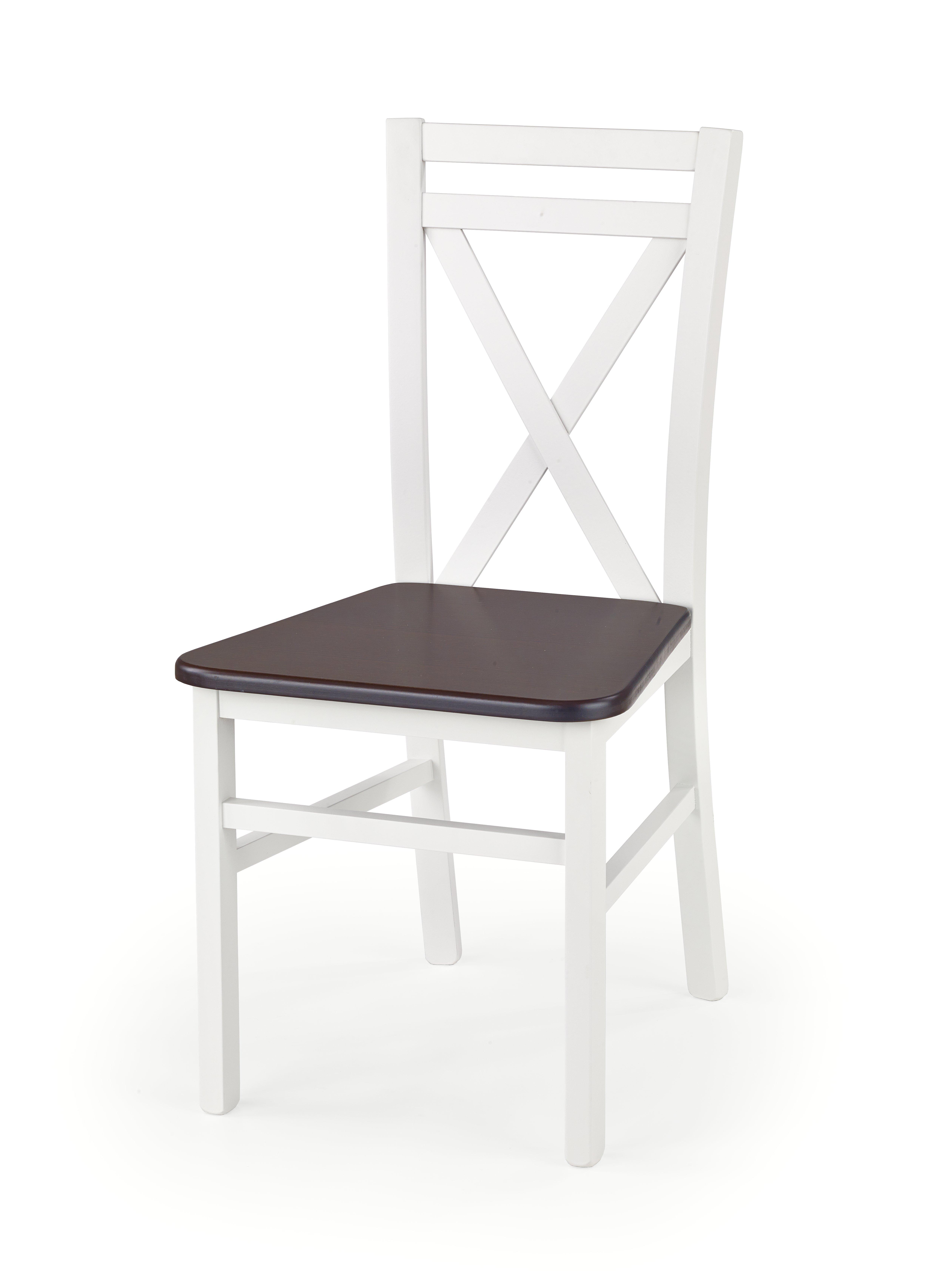 Jídelní židle - Halmar - Dariusz 2 (bílá + tmavý ořech)