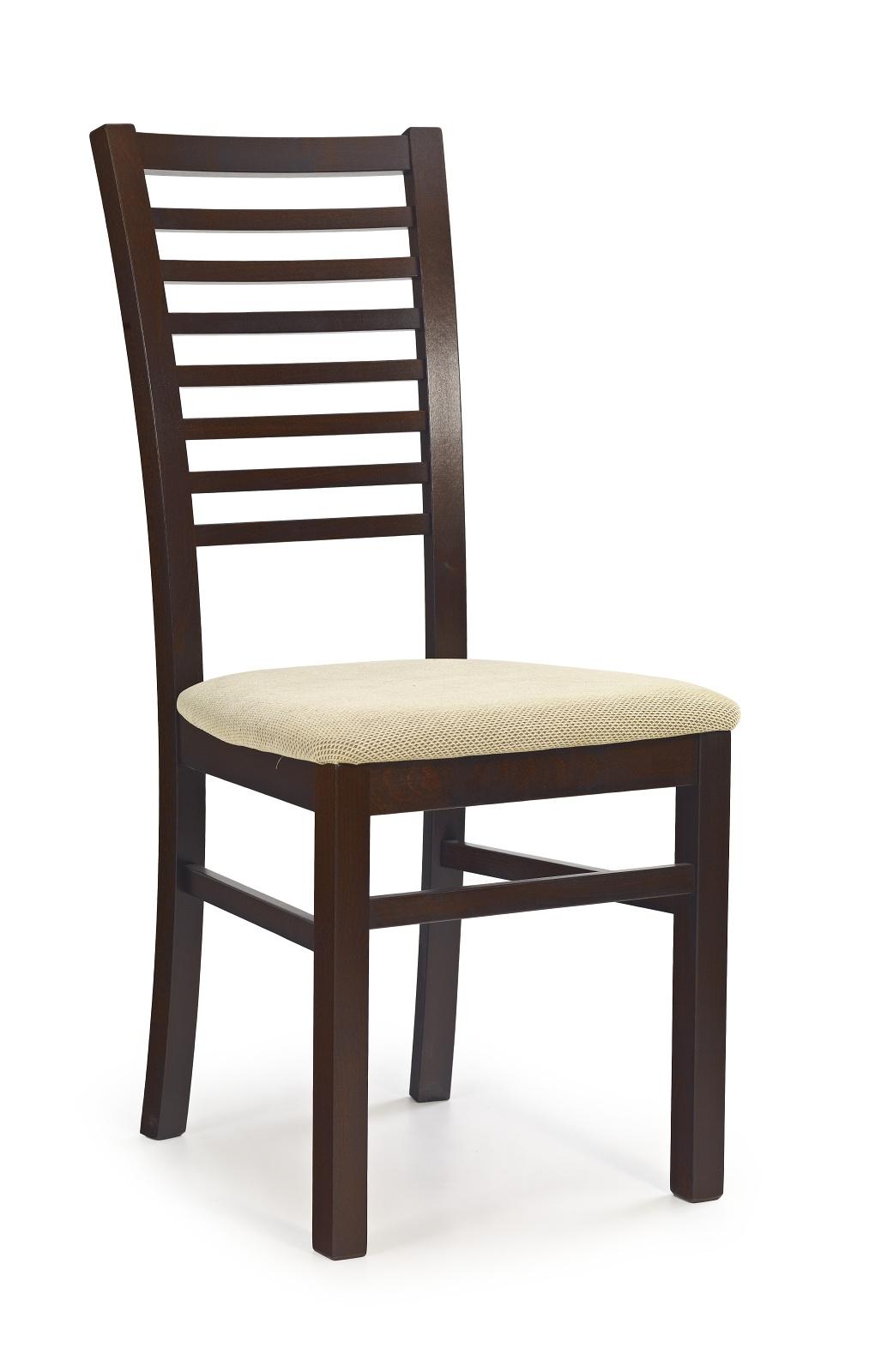 Jídelní židle - Halmar - Gerard 6 Ořech tmavý + béžová