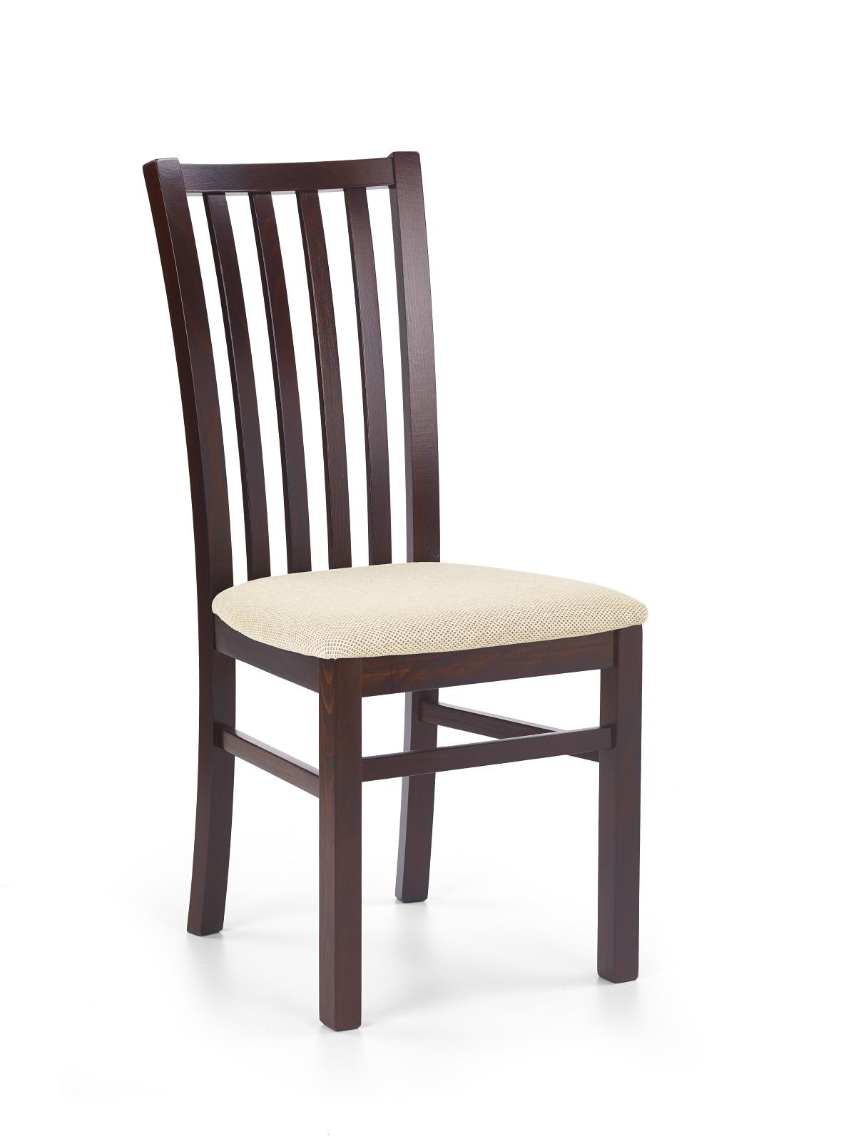 Jídelní židle - Halmar - Gerard 7 Ořech tmavý + béžová