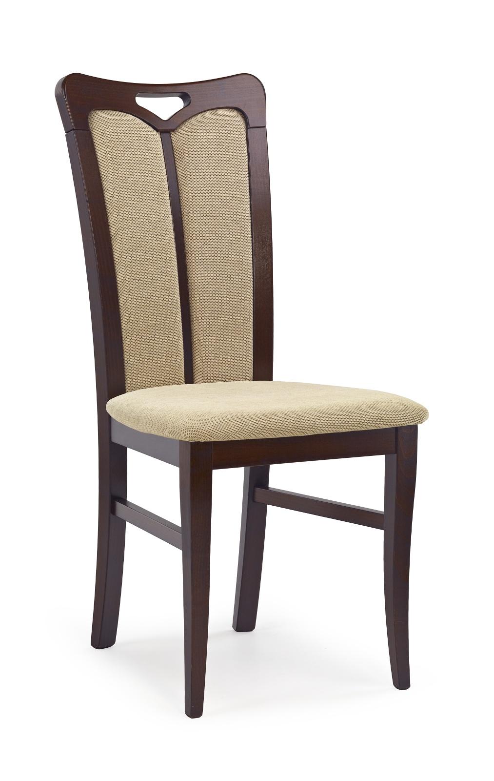 Jídelní židle - Halmar - Hubert 2 Ořech tmavý + béžová