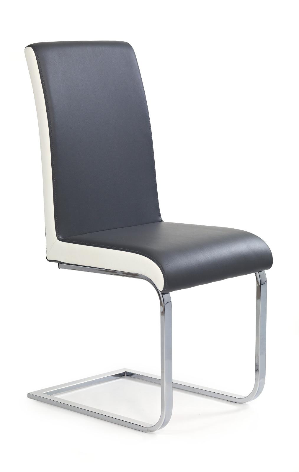 Jídelní židle - Halmar - K103 šedá + bílá