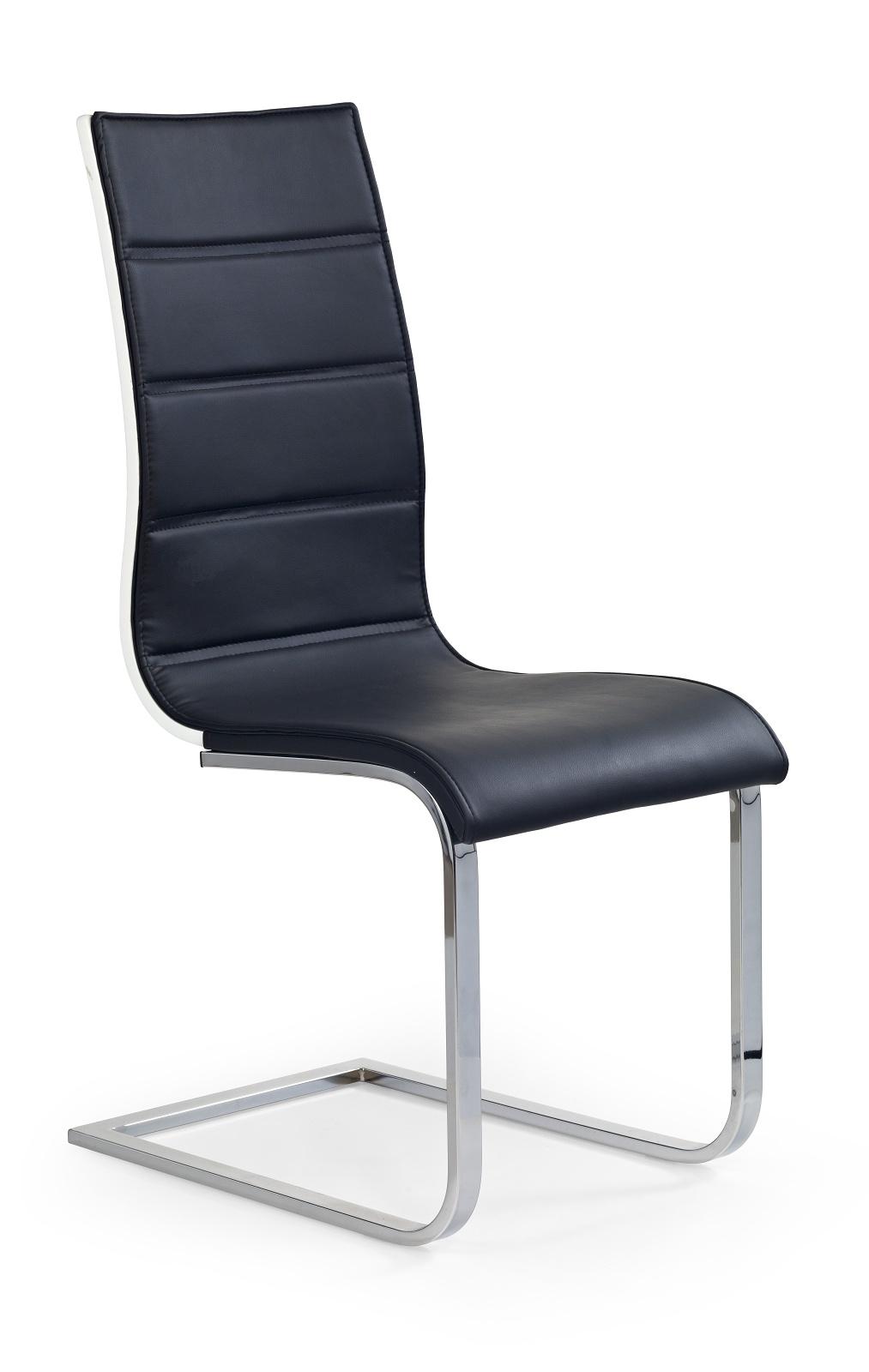 Jídelní židle - Halmar - K104 černá + bílá
