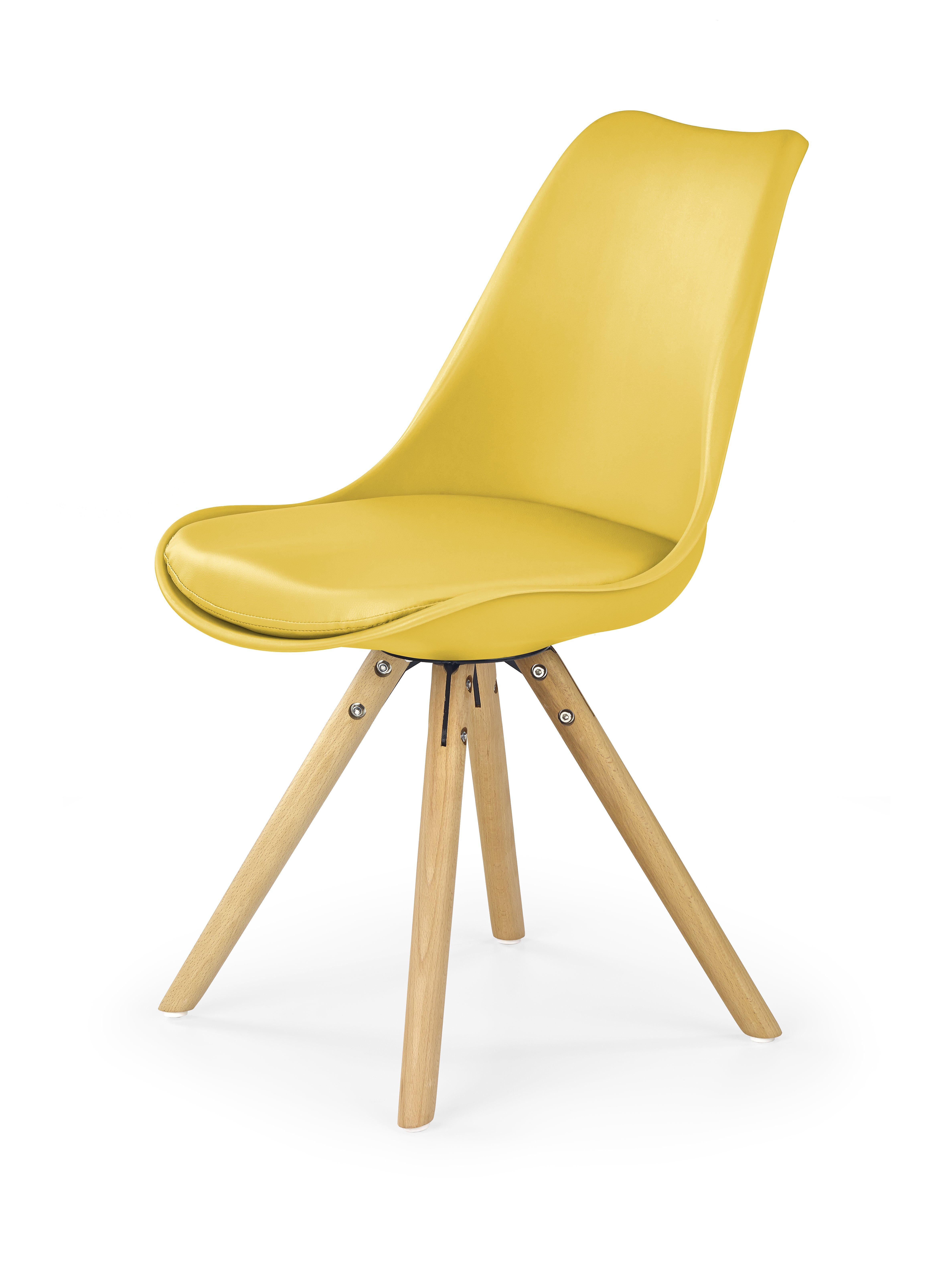 Jídelní židle - Halmar - Aker (žlutá)