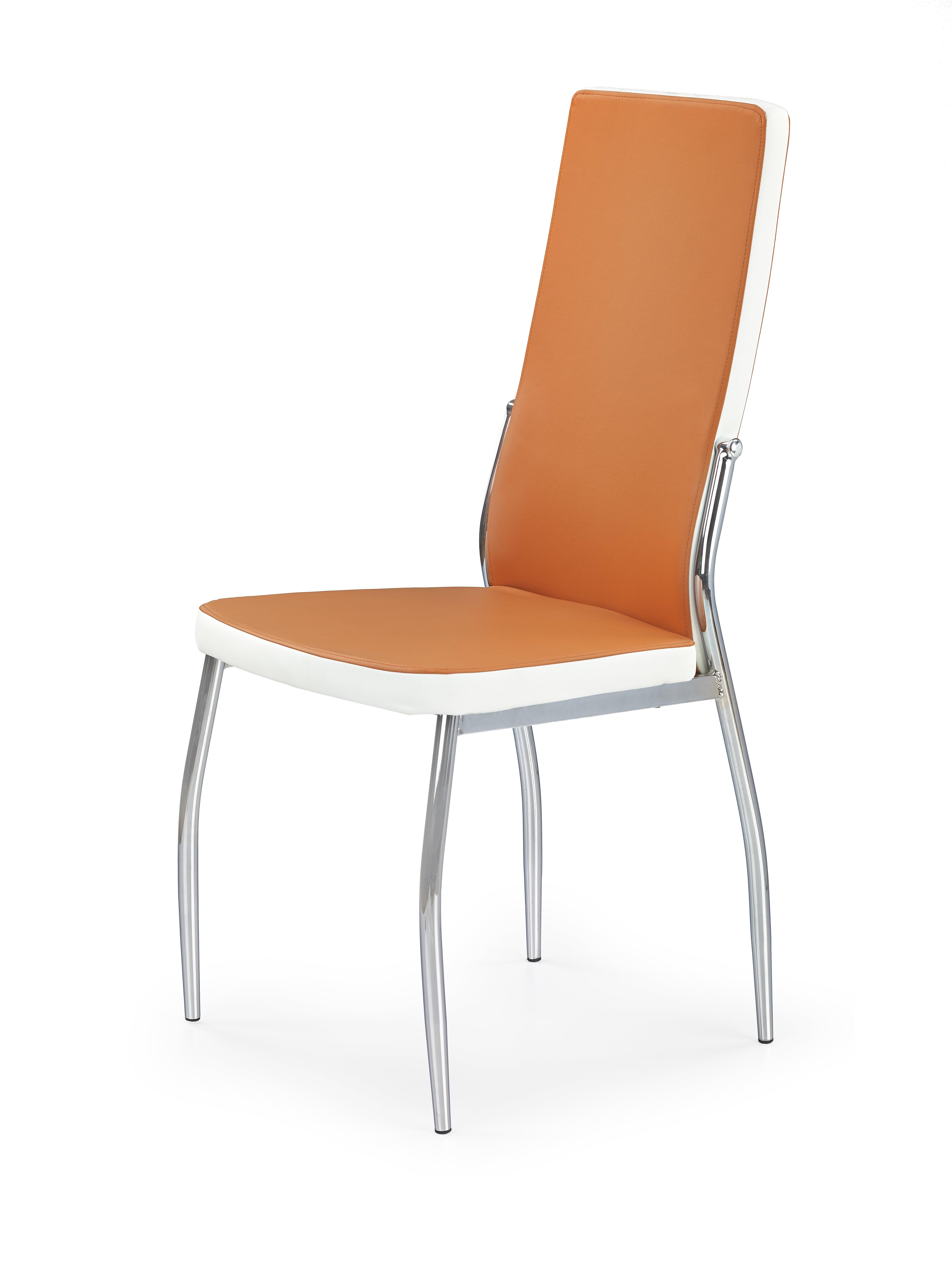Jídelní židle - Halmar - K210 (oranžová + bílá)