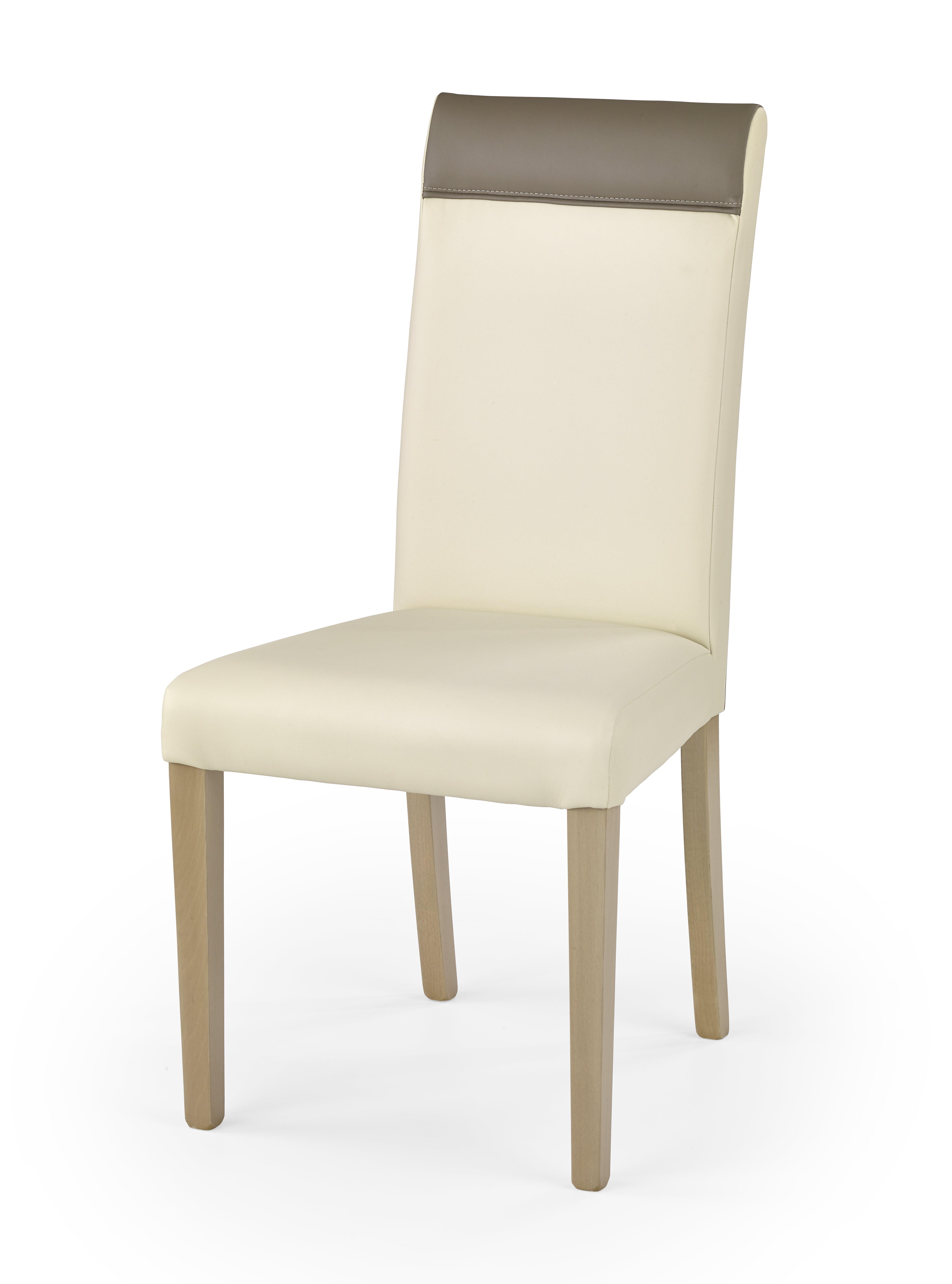 Jídelní židle - Halmar - Norbert (dub sonoma + krémová + béžová)