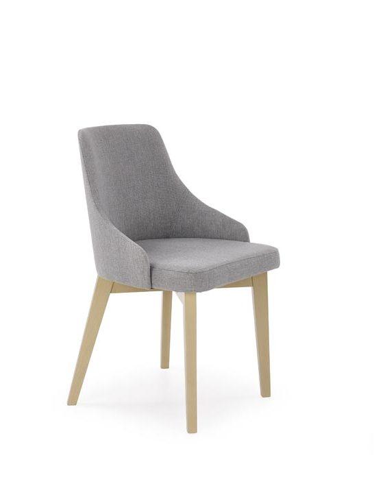 Jídelní židle - Halmar - Toledo (světle šedá + dub sonoma)