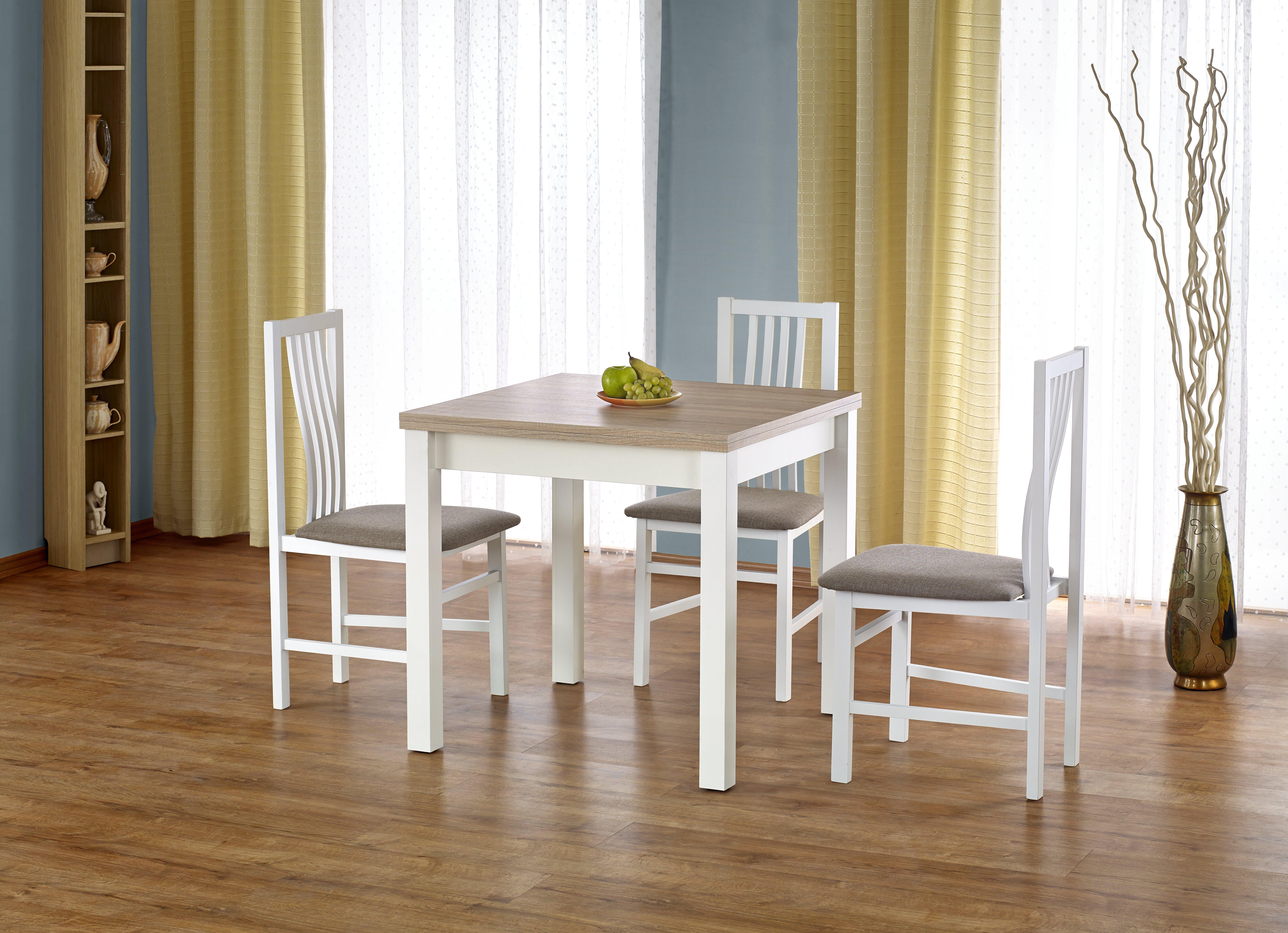 Jídelní stůl - Halmar - Gracjan (dub sonoma + bílá) (pro 4 až 6 osob)