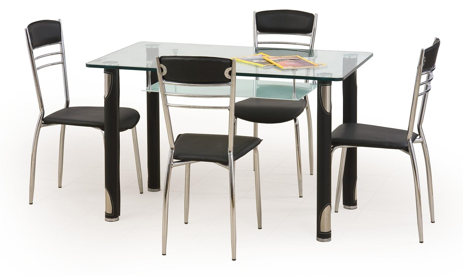 Jídelní stůl - Halmar - Gotard černá (pro 4 osoby)