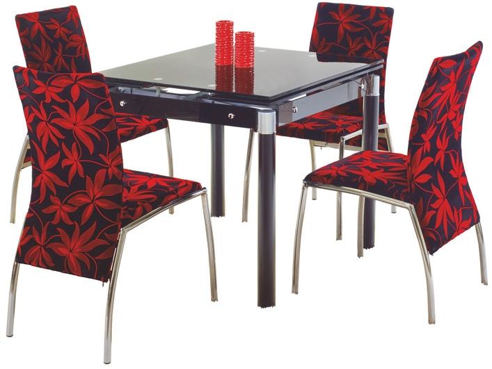 Jídelní stůl - Halmar - Kent černá (pro 4 osoby)