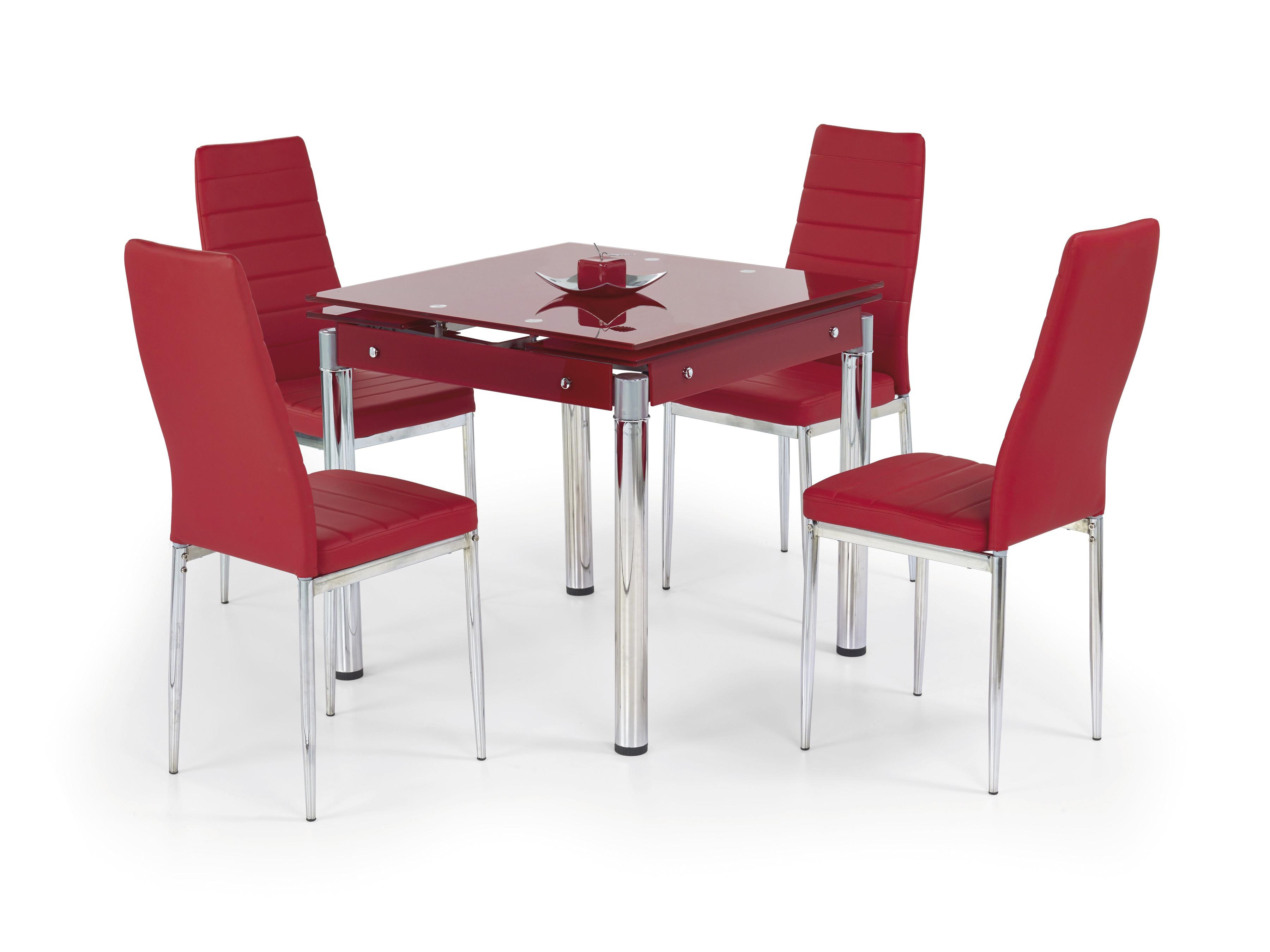 Jídelní stůl - Halmar - Kent červená (pro 4 osoby)
