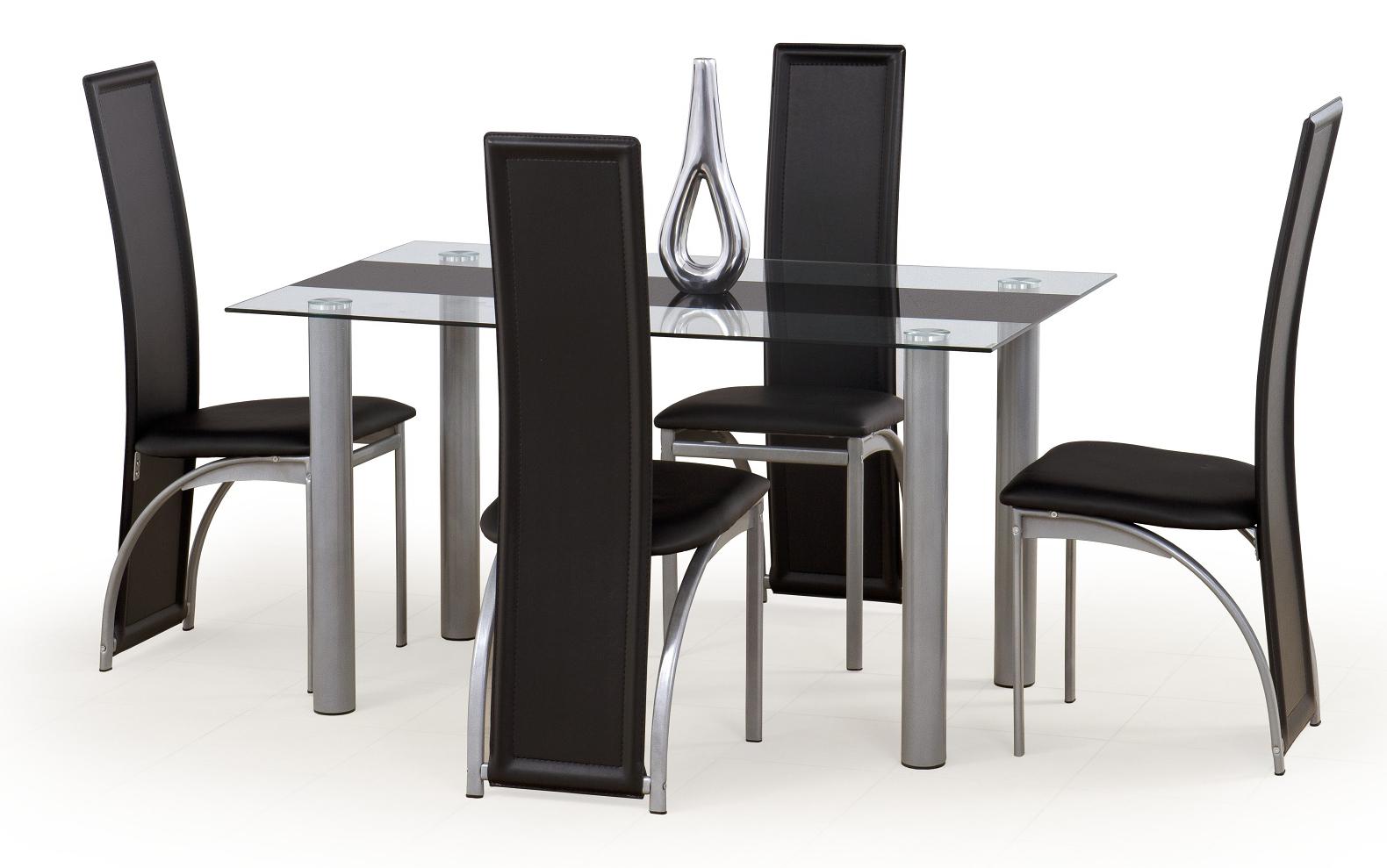 Jídelní stůl - Halmar - Talon černý pás (pro 6 osob)