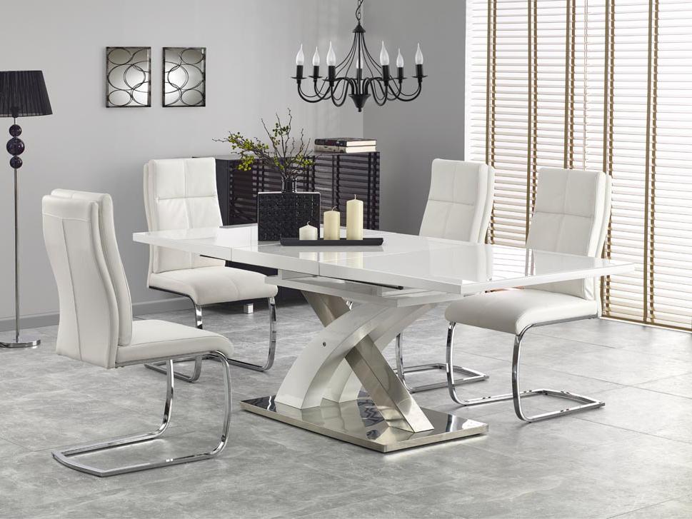 Jídelní stůl - Halmar - Sandor 2 (bílá) (pro 6 až 8 osob)