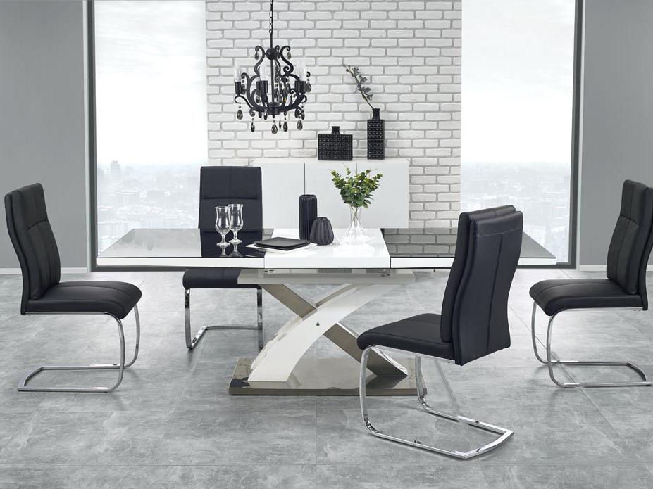 Jídelní stůl - Halmar - Sandor 2 (černá + bílá) (pro 6 až 8 osob)