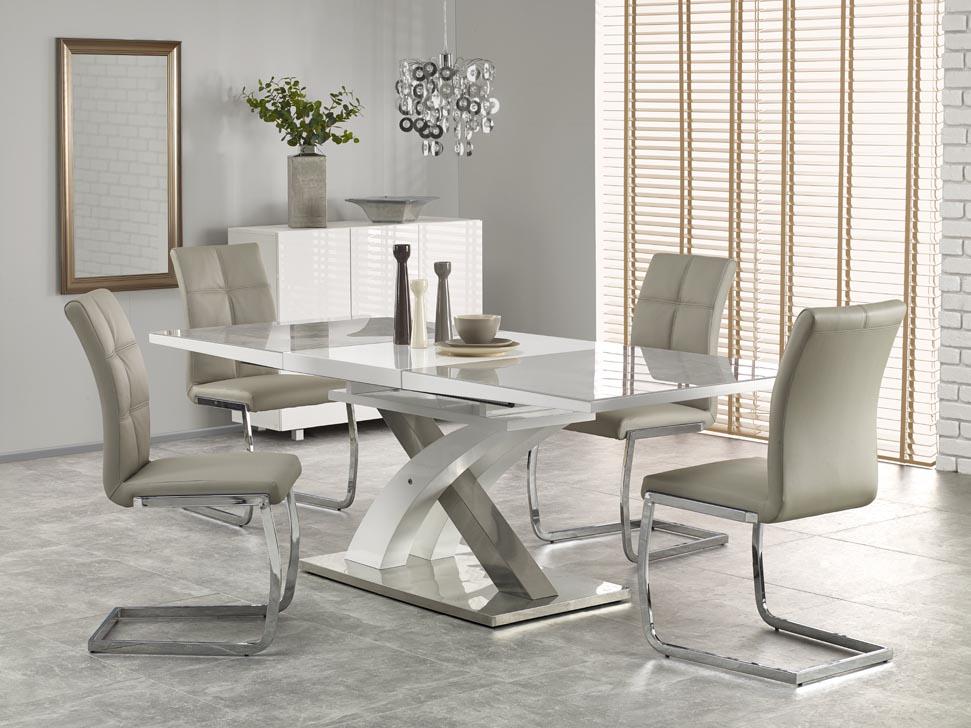 Jídelní stůl - Halmar - Sandor 2 (šedá + bílá) (pro 6 až 8 osob)