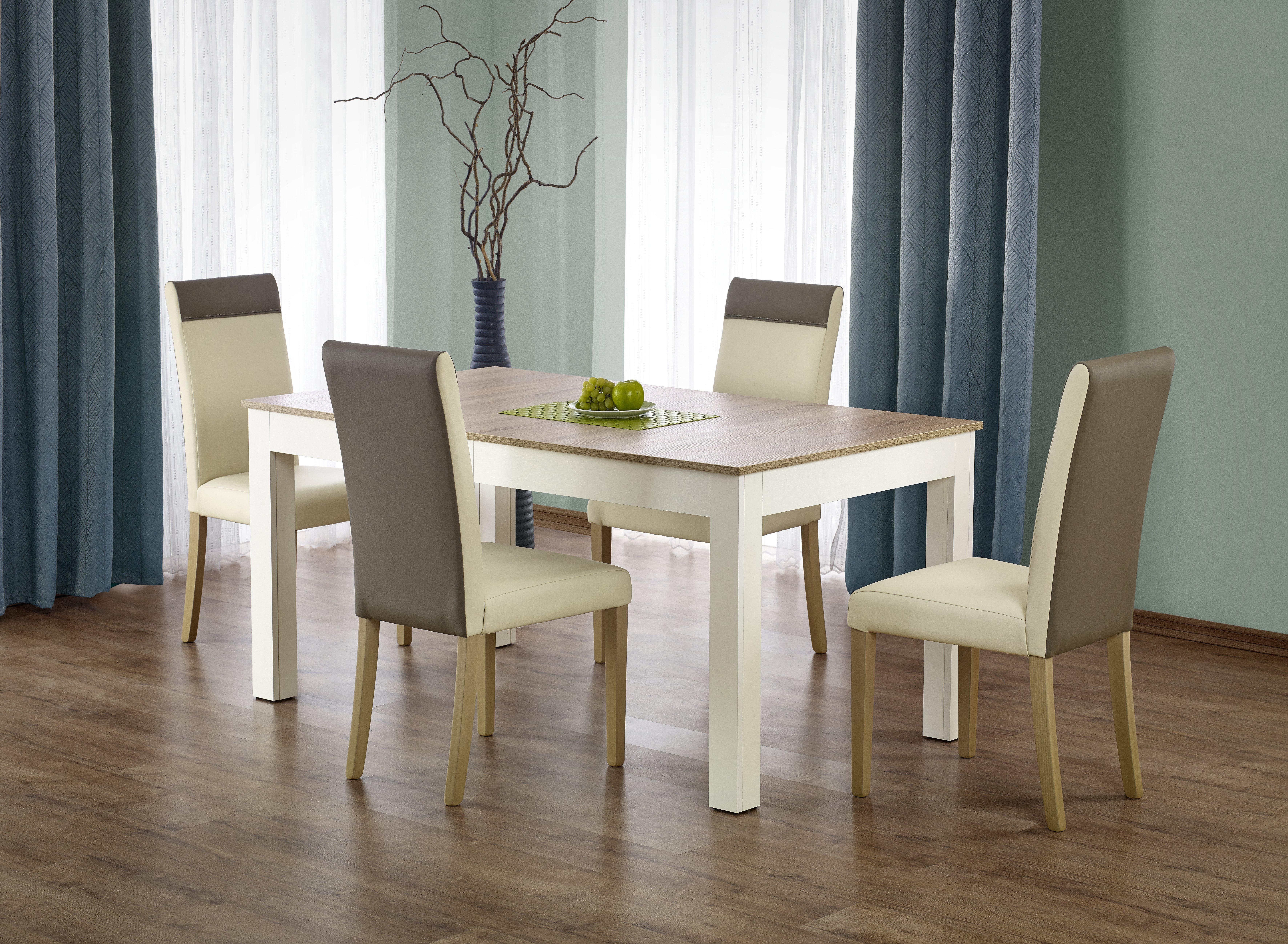 Jídelní stůl - Halmar - Seweryn (dub sonoma + bílá) (pro 6 až 12 osob)
