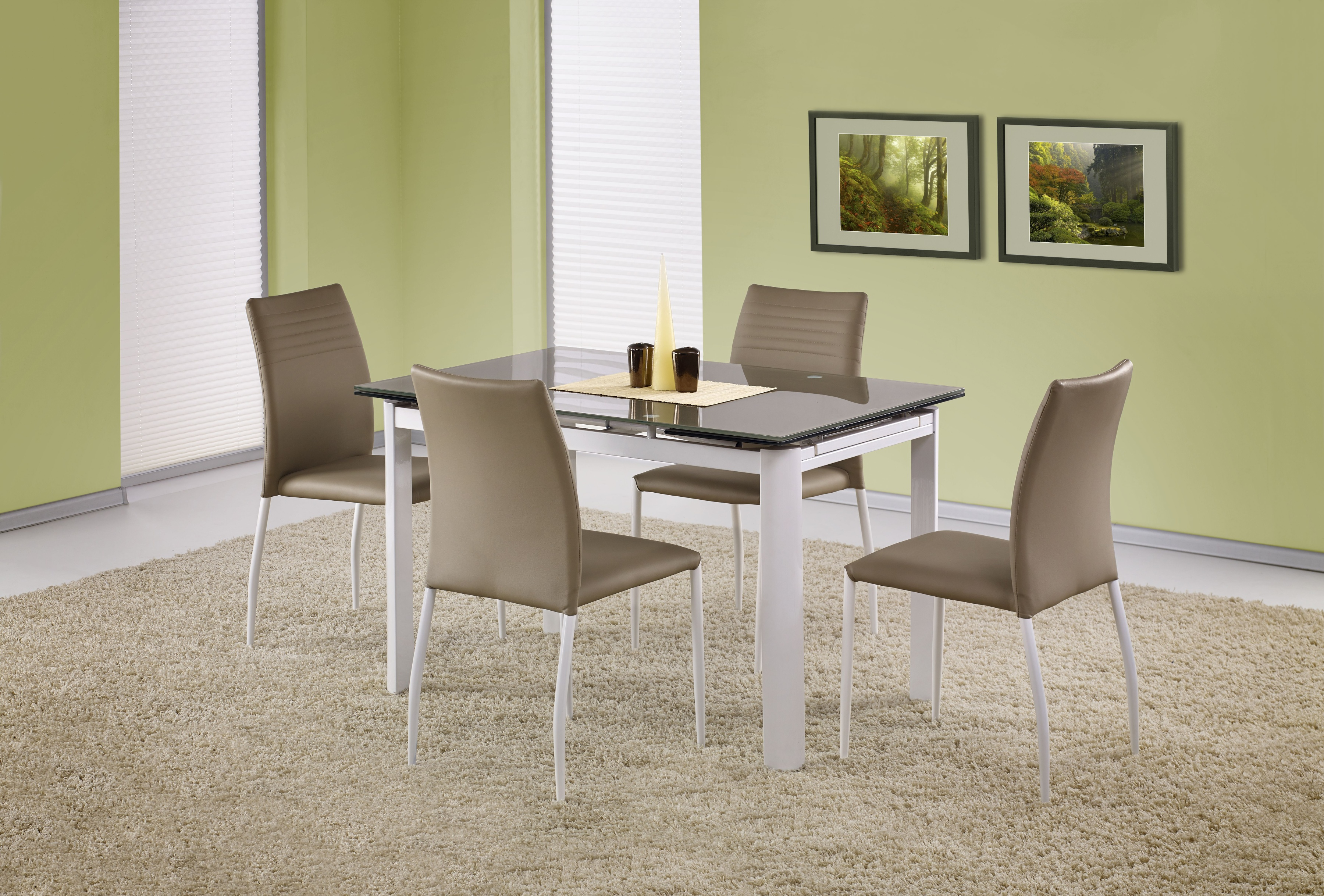 Jídelní stůl - Halmar - ALSTON béžová (pro 4 až 8 osob)
