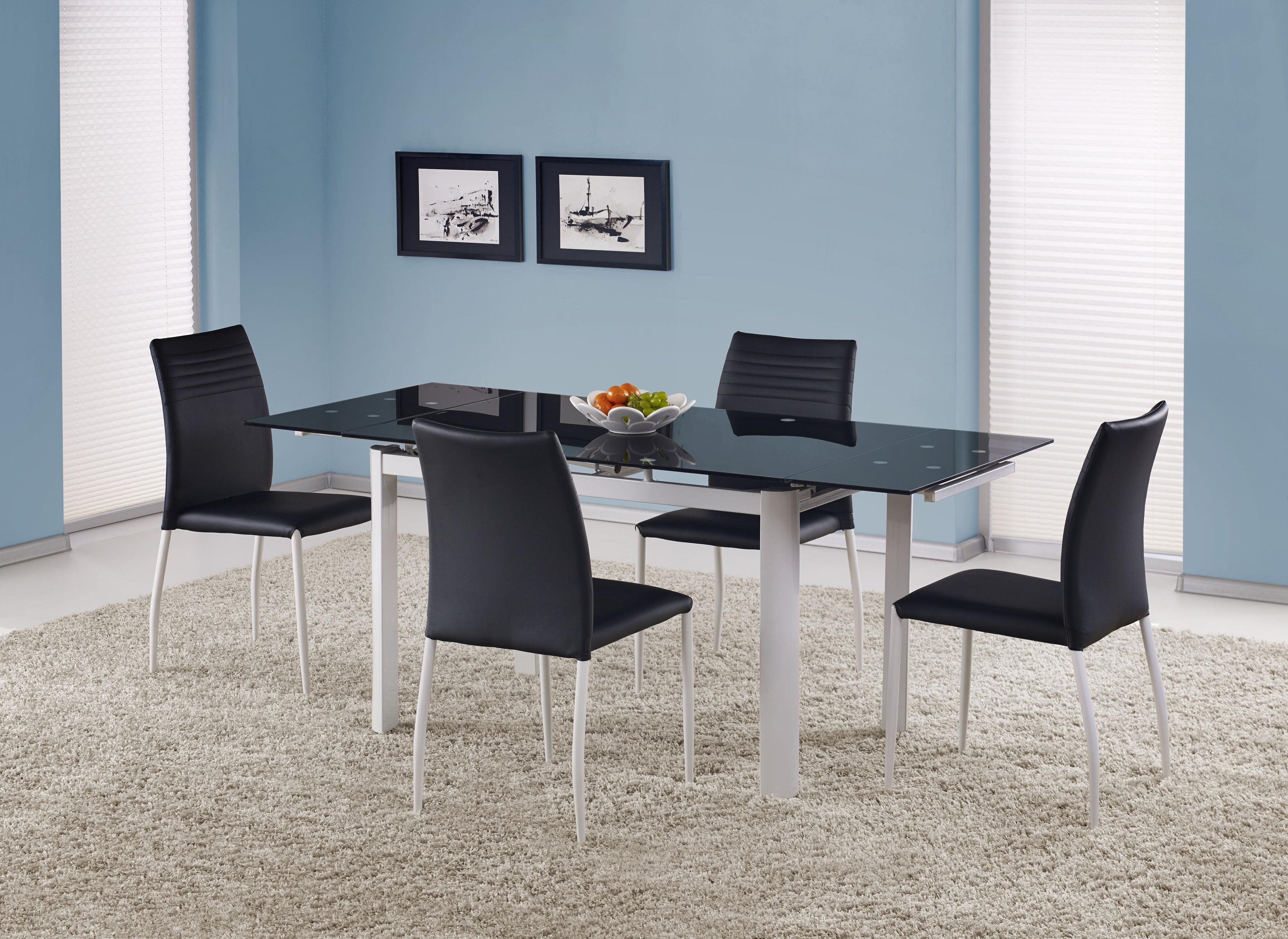 Jídelní stůl - Halmar - ALSTON černá (pro 4 až 8 osob)