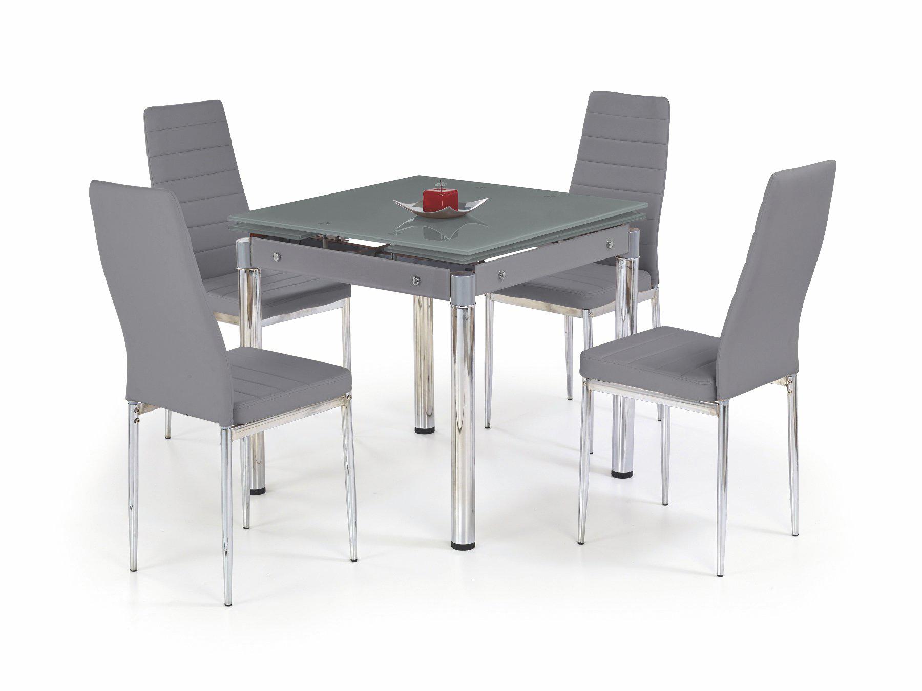 Jídelní stůl - Halmar - Kent šedá (pro 4 osoby)