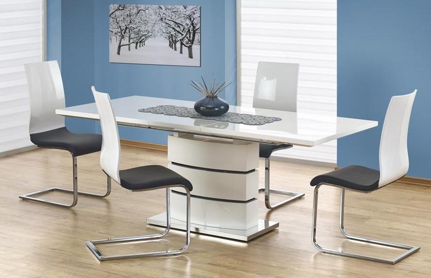 Jídelní stůl - Halmar - Nobel (bílá) (pro 6 až 8 osob)