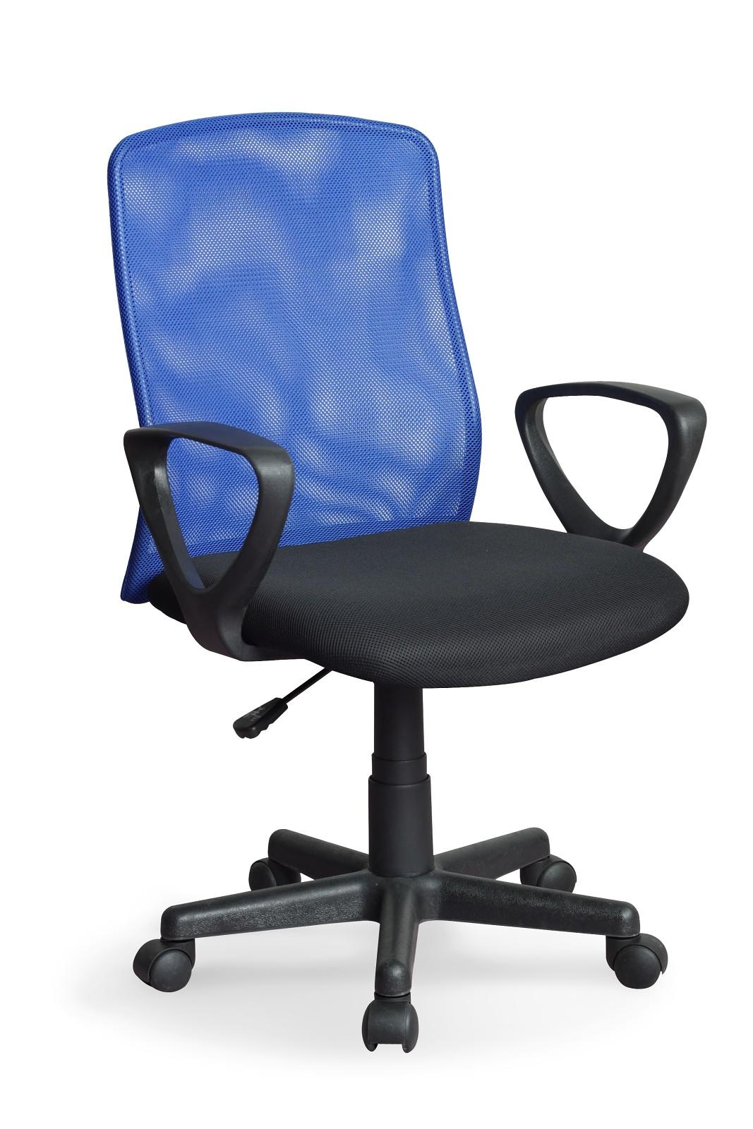 Kancelářská židle - Halmar - Alex černá + modrá
