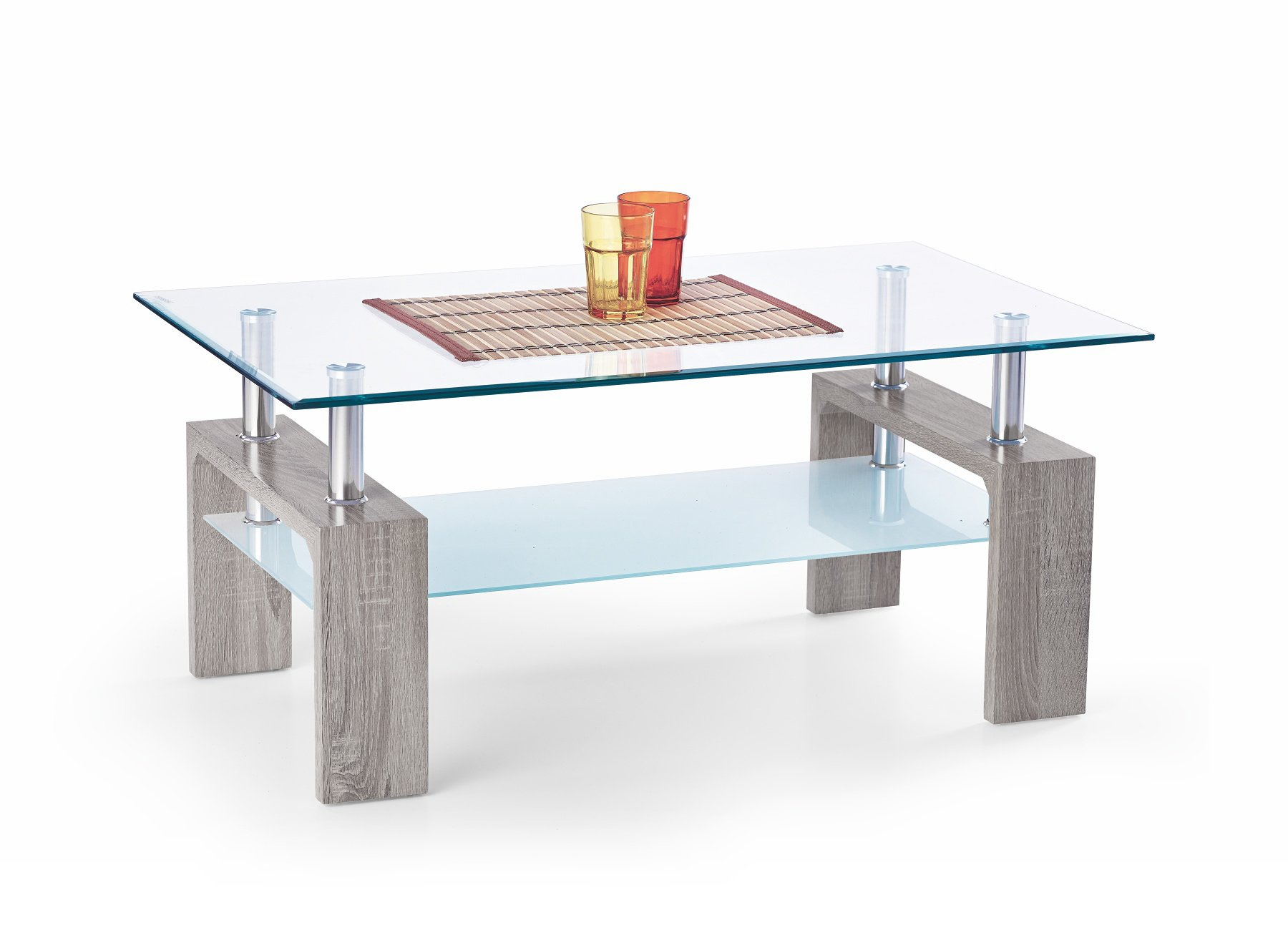 Konferenční stolek - Halmar - Diana Intro (dub sonoma tmavý)