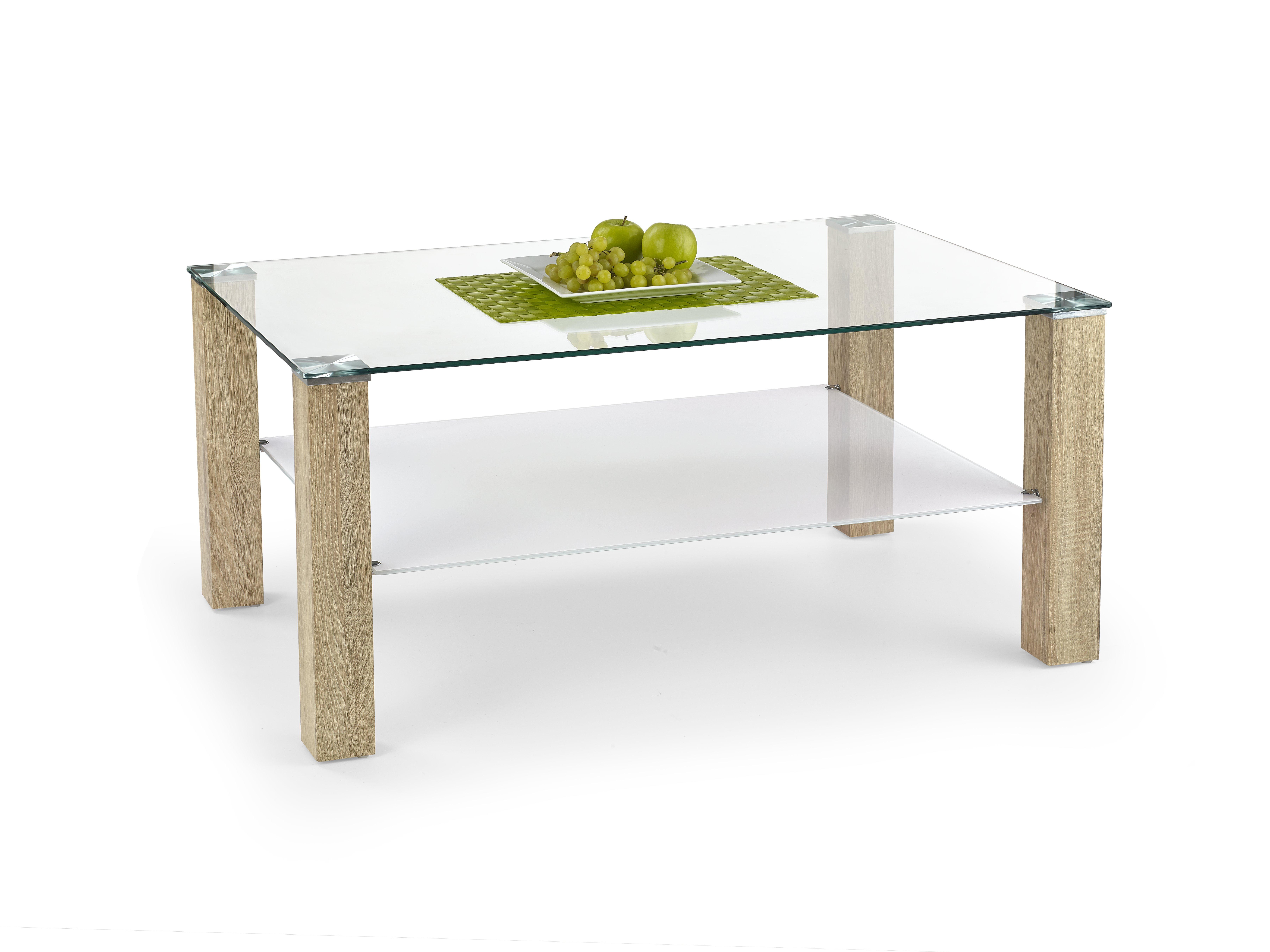 Konferenční stolek - Halmar - Ventura (bílá + dub sonoma)