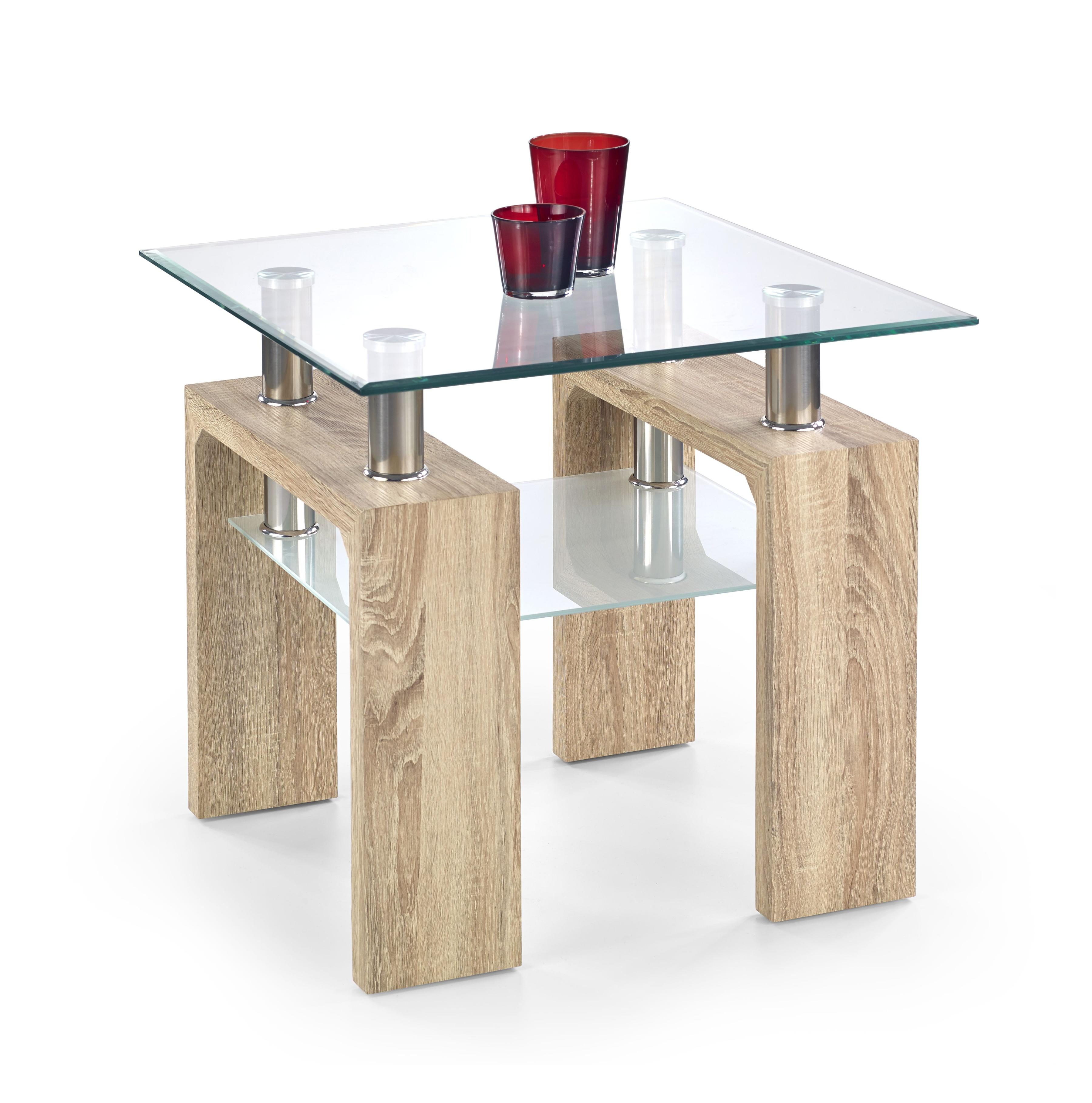 Konferenční stolek - Halmar - DIANA H KWADRAT (dub sonoma)