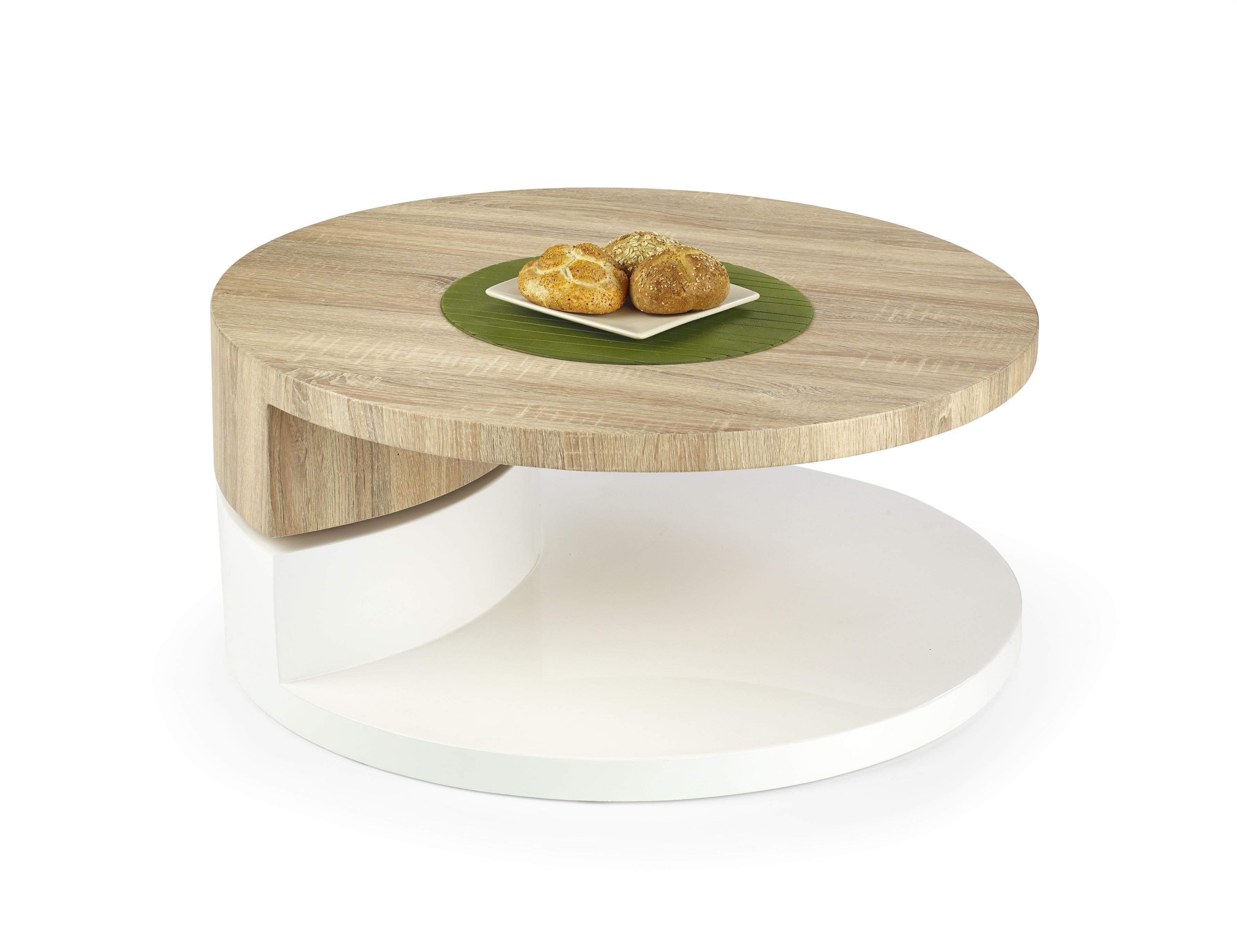 Konferenční stolek - Halmar - Madeleine Dub Sonoma + bílá