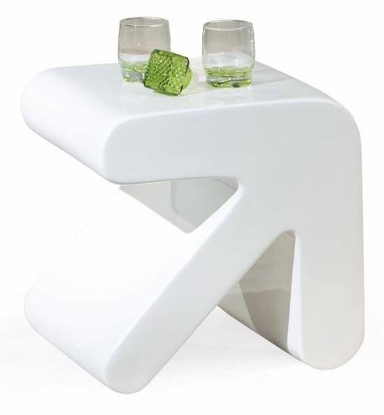 Konferenční stolek - Halmar - Erati bílý