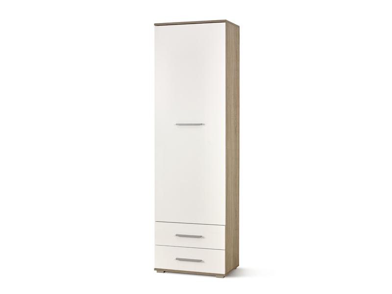 Šatní skříň - Halmar - Lima REG-1 (dub sonoma + bílá)