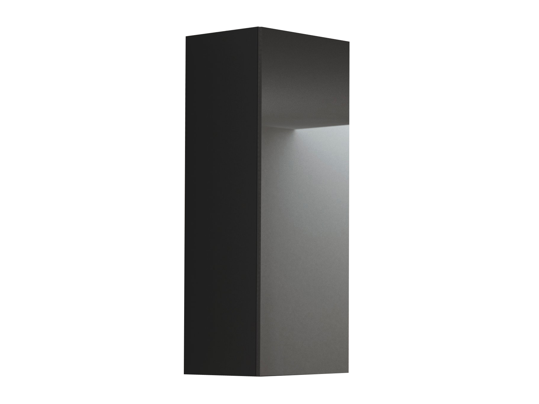 Skříňka na stěnu - Halmar - Livo S-120 (černá + lesk černý)