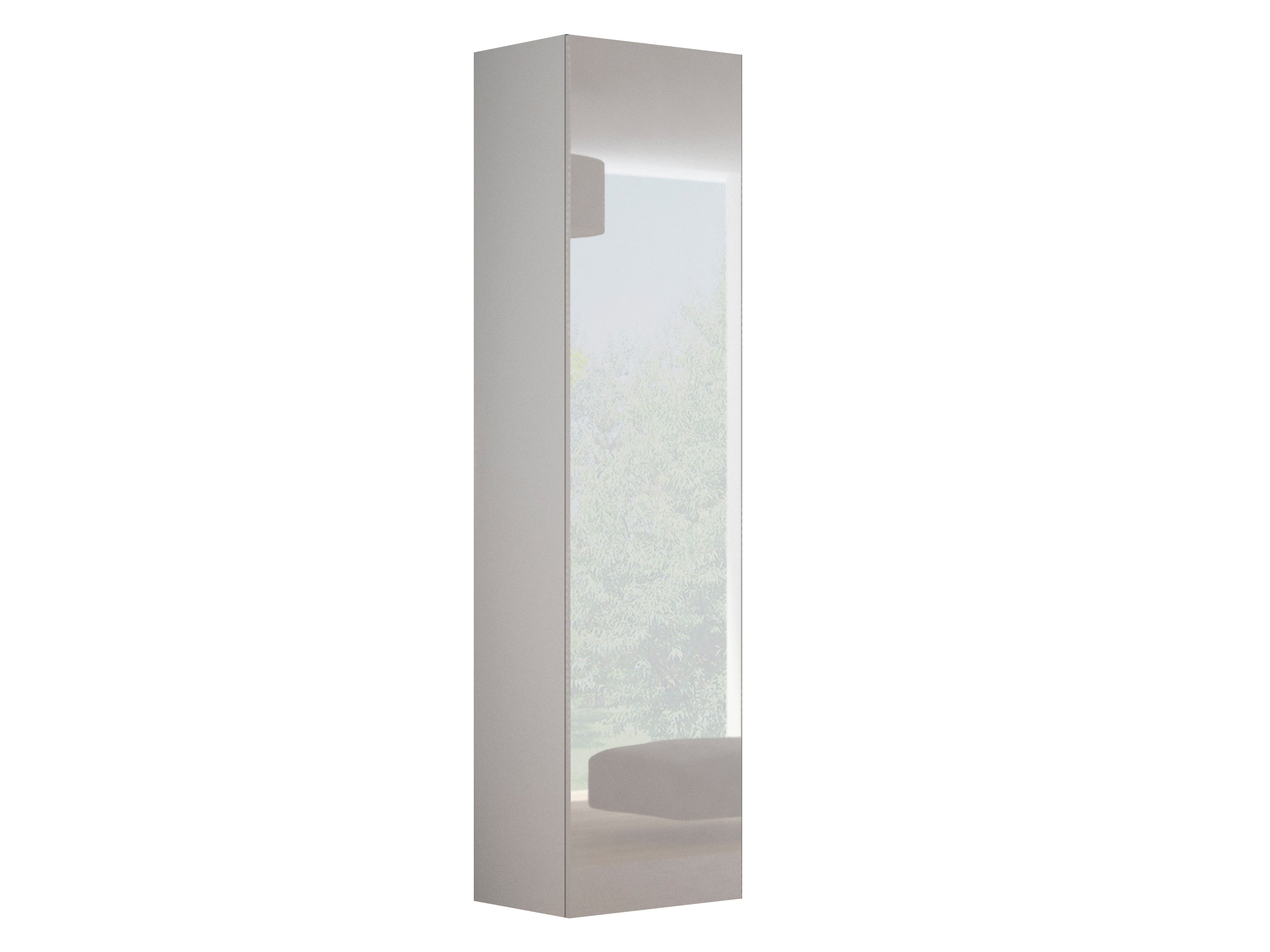 Skříňka na stěnu - Halmar - Livo S-180 (bílá + lesk bílý)