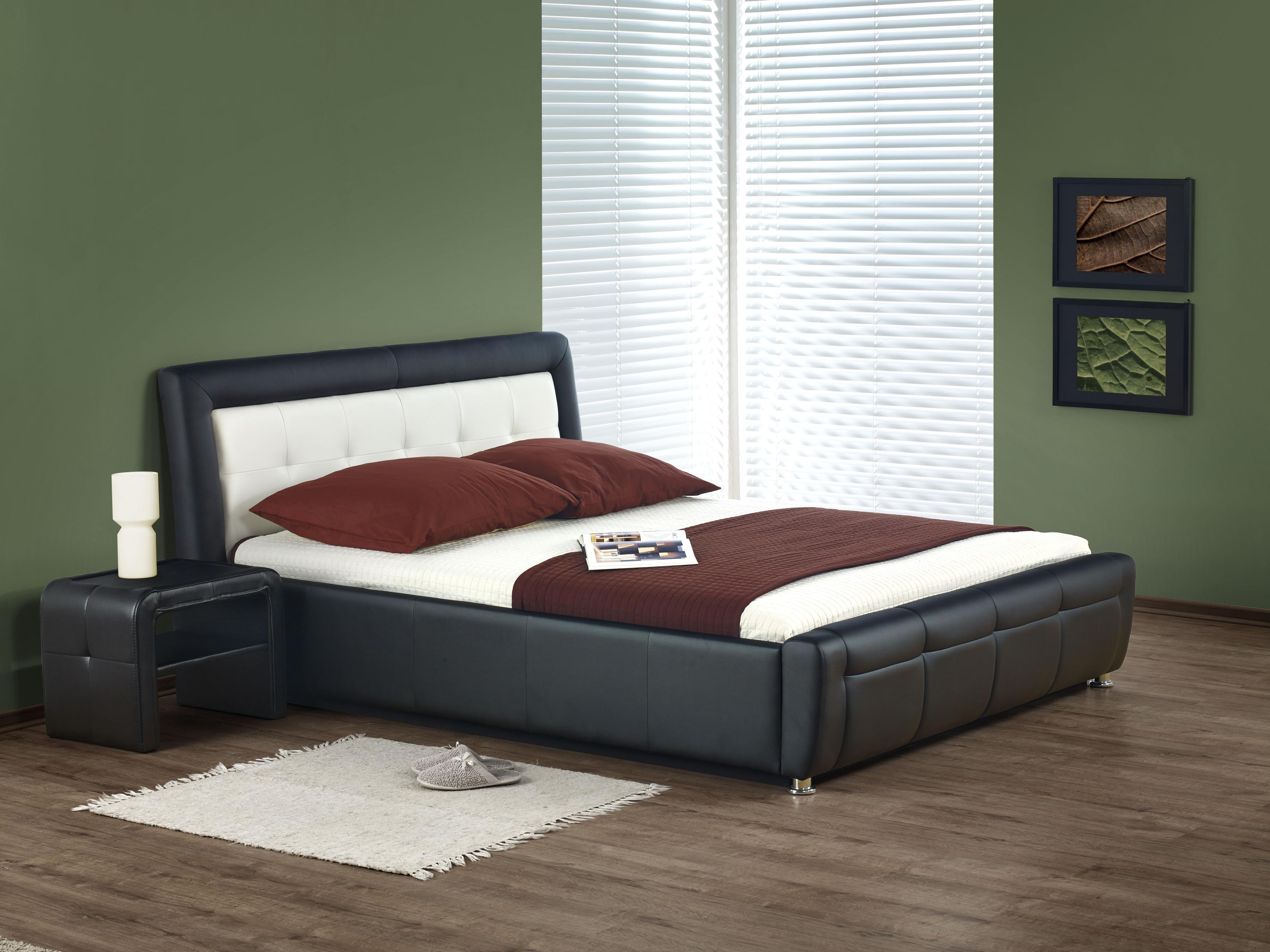 Manželská postel 160 cm - Halmar - SAMANTA P (s roštem a úložným prostorem)