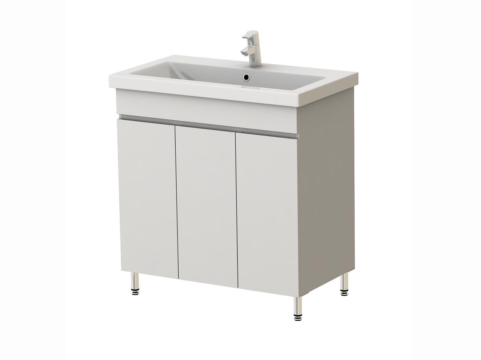 Koupelnová skříňka s umyvadlem - Juventa - Ariadna - AR3-80 W