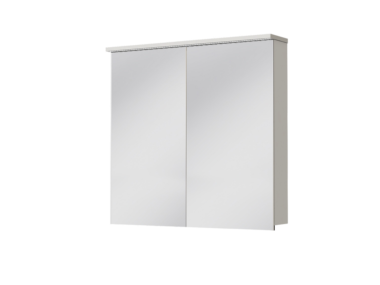Koupelnová skříňka na stěnu - Juventa - Monza - MnMC-80 W (se zrcadlem) (s osvětlením)