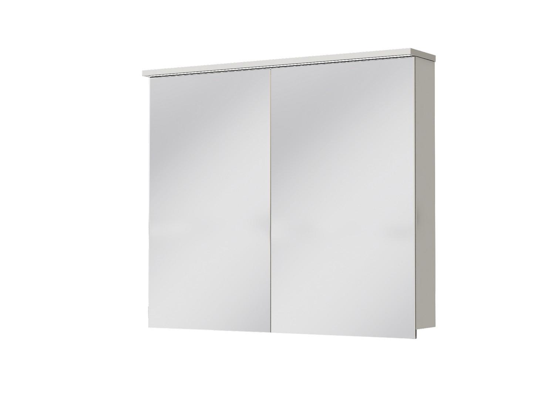 Koupelnová skříňka na stěnu - Juventa - Monza - MnMC-90 W (se zrcadlem) (s osvětlením)