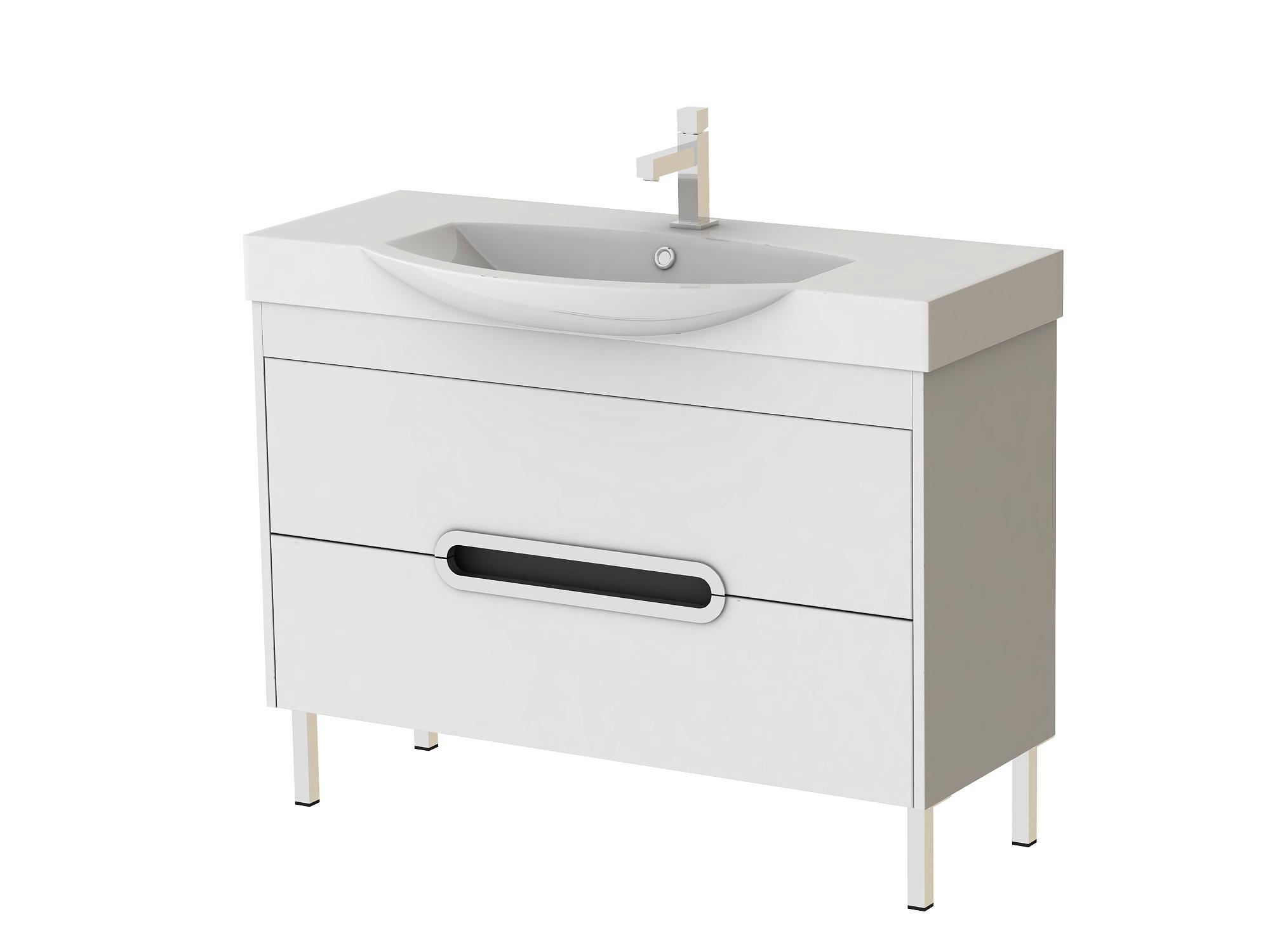 Koupelnová skříňka s umyvadlem - Juventa - Monza - Mn-100 W