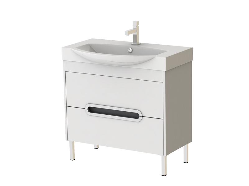 Koupelnová skříňka s umyvadlem - Juventa - Monza - Mn-85 W