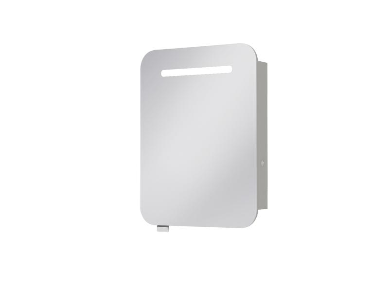 Koupelnová skříňka na stěnu - Juventa - Prato - PrM-60 (se zrcadlem) (s osvětlením)