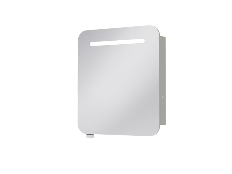 Koupelnová skříňka na stěnu - Juventa - Prato - PrM-70 (se zrcadlem) (s osvětlením)