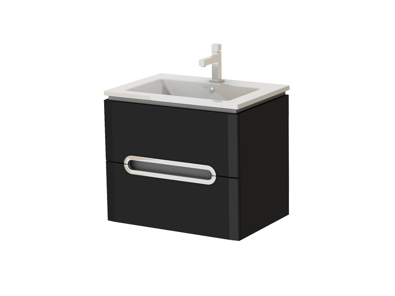 Koupelnová skříňka na stěnu s umyvadlem - Juventa - Prato - Pr-65 B