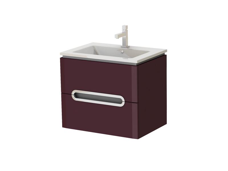 Koupelnová skříňka na stěnu s umyvadlem - Juventa - Prato - Pr-65 C